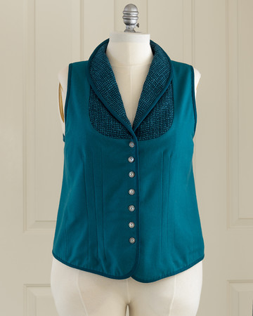 Wool Vest by Dollie Gansz