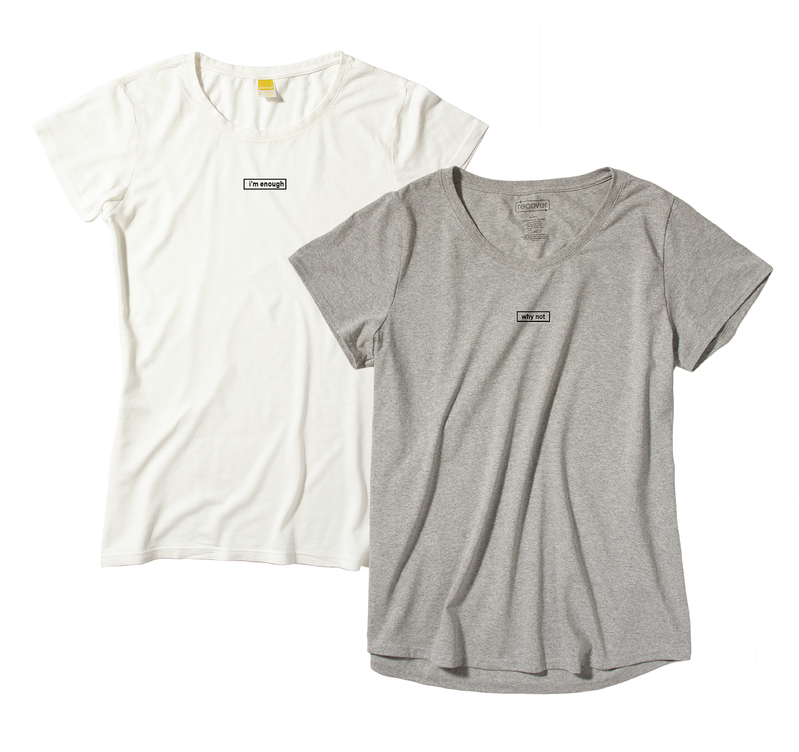 Two different fits to accommodate different body types In both white and grey.