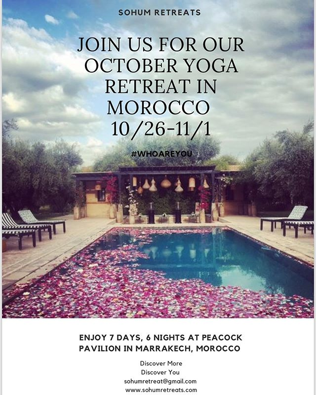 """""""It is only in adventure that some people succeed in knowing themselves - in finding themselves."""" - Andre Gide . . . . Come on an adventure with us and explore the beauty of Morocco. October 26-November 1st @sohum_retreats & @wellness_rebellion Link in Bio!- #discoveryourself"""