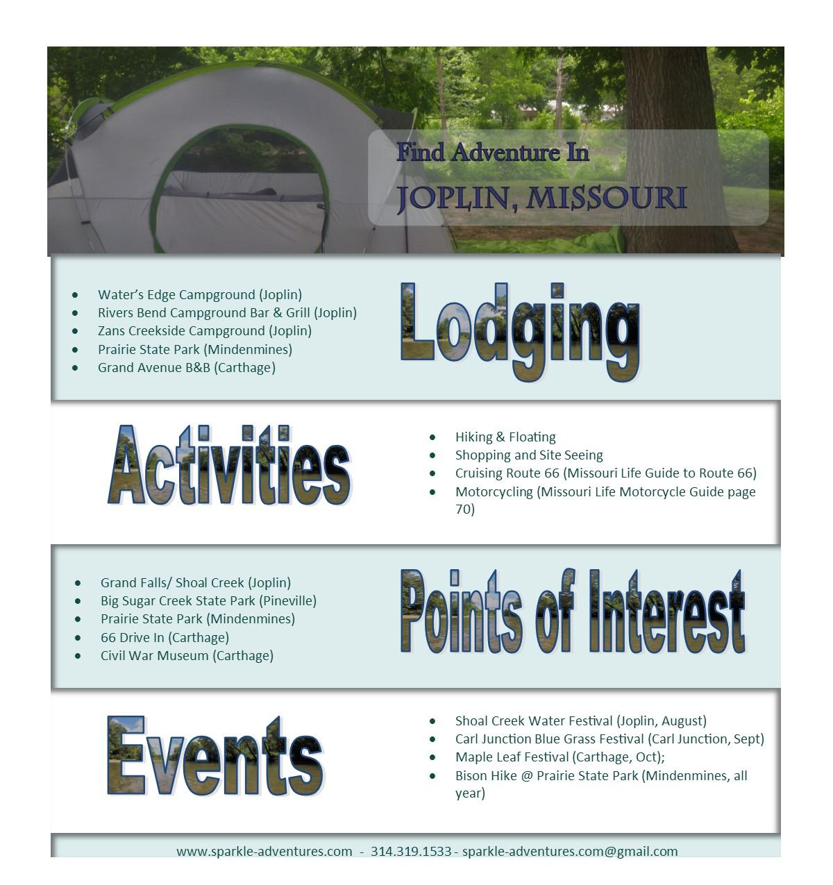 Find Adventure In Joplin, Missouri - Sparkle Adventures