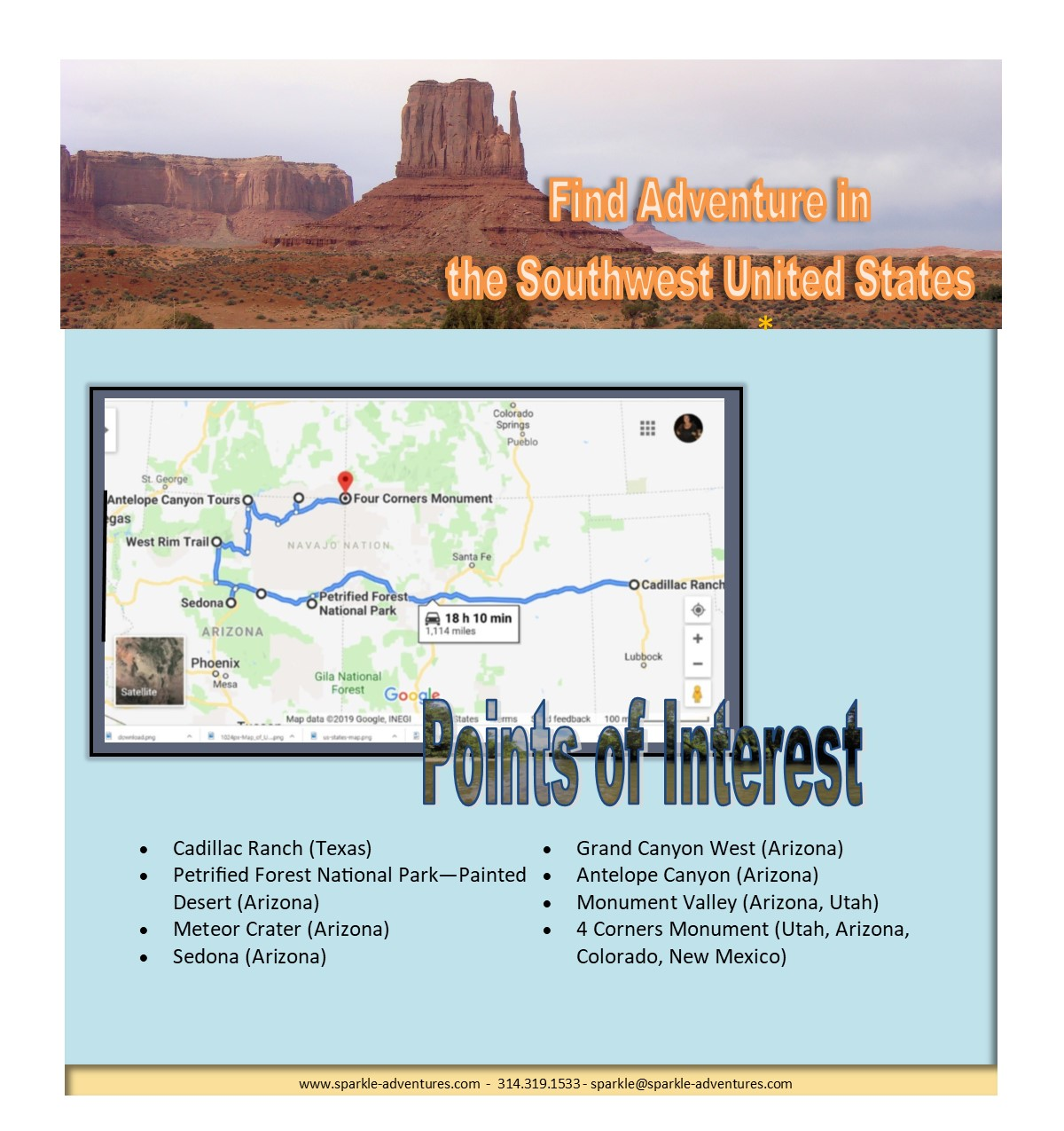 Find Adventure in the Southwest United States - Sparkle Adventures