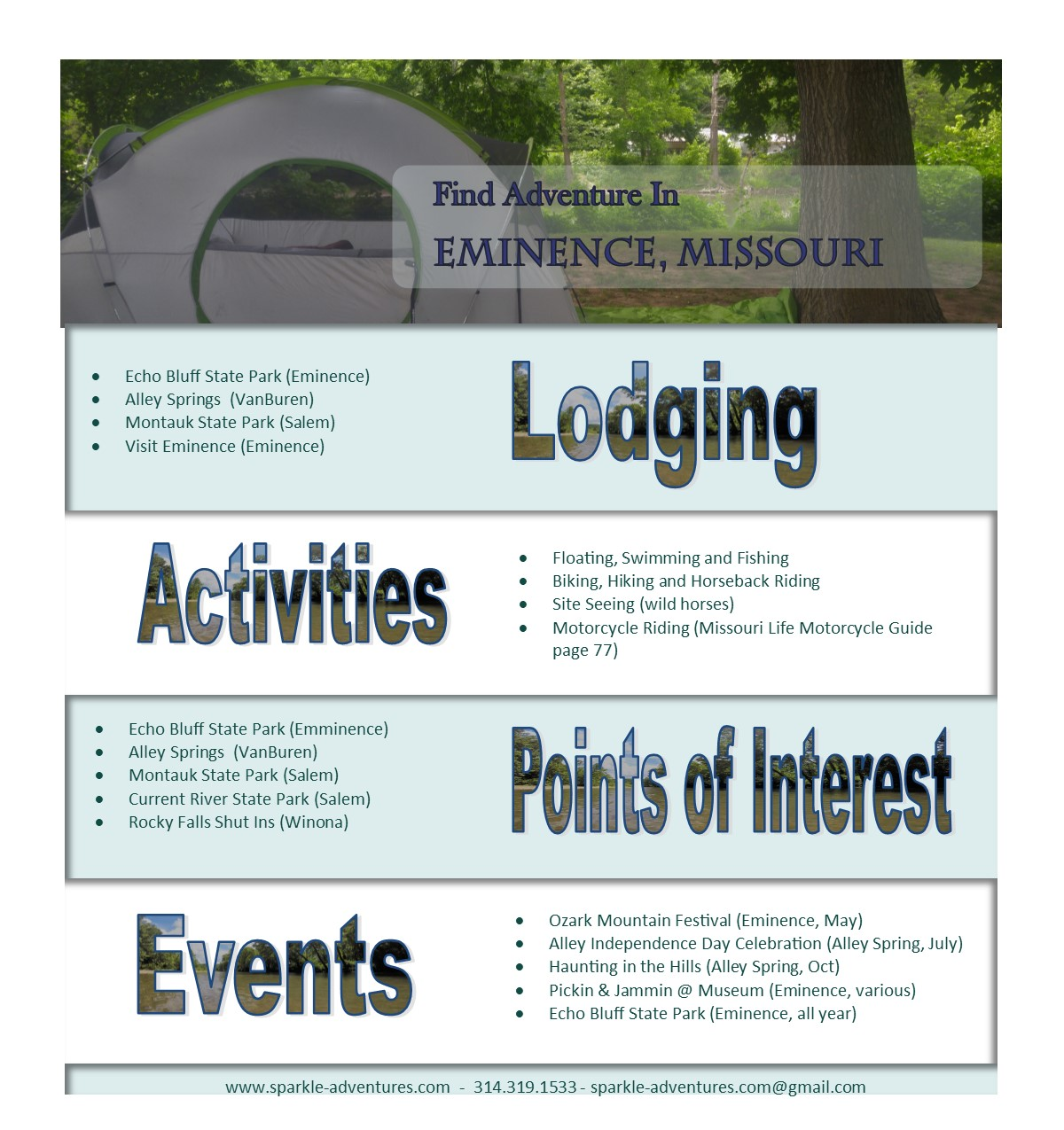 Find Adventure In Eminence, Missouri - Sparkle Adventures