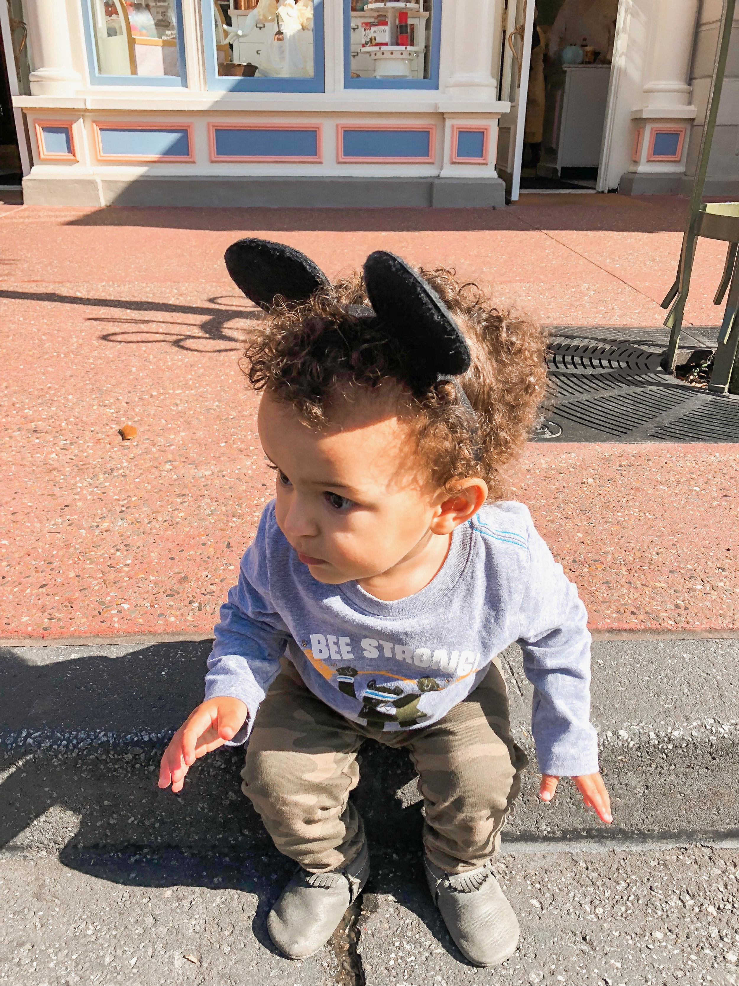 My little Mouseketeer on Main Street U.S.A. - Magic Kingdom