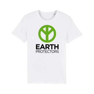 Earth protectors / back poem - White t-shirt£18