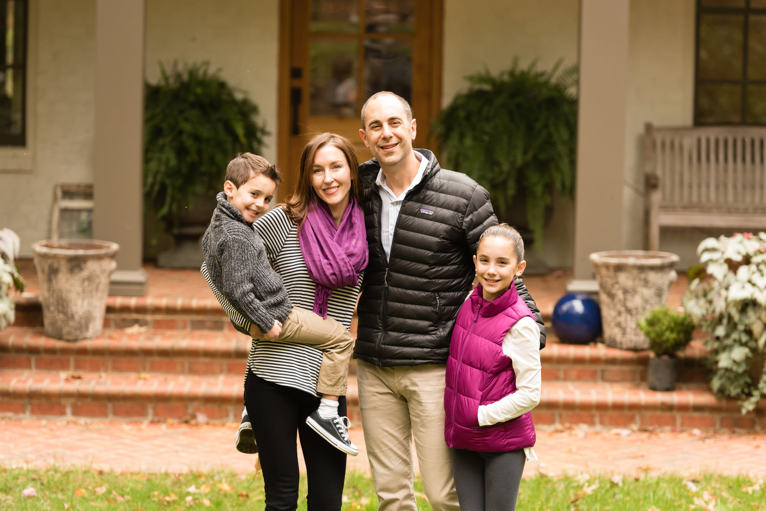 This family rocked their styling, using layers, patterns, pops of coordinated color, and neutrals.