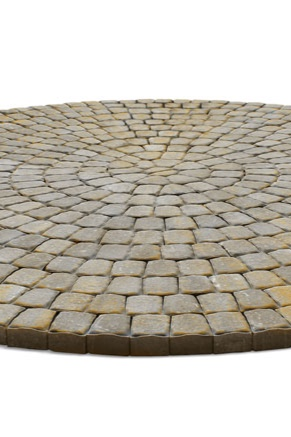 LEXINGTON CIRCLE - Incorporate a nearly 12' circle into your design by using Oberfields Lexington Circle. Great for adding visual interest or defining a fire-pit or dining areas. Appearance and style complement Oberfields Lexington pavers.
