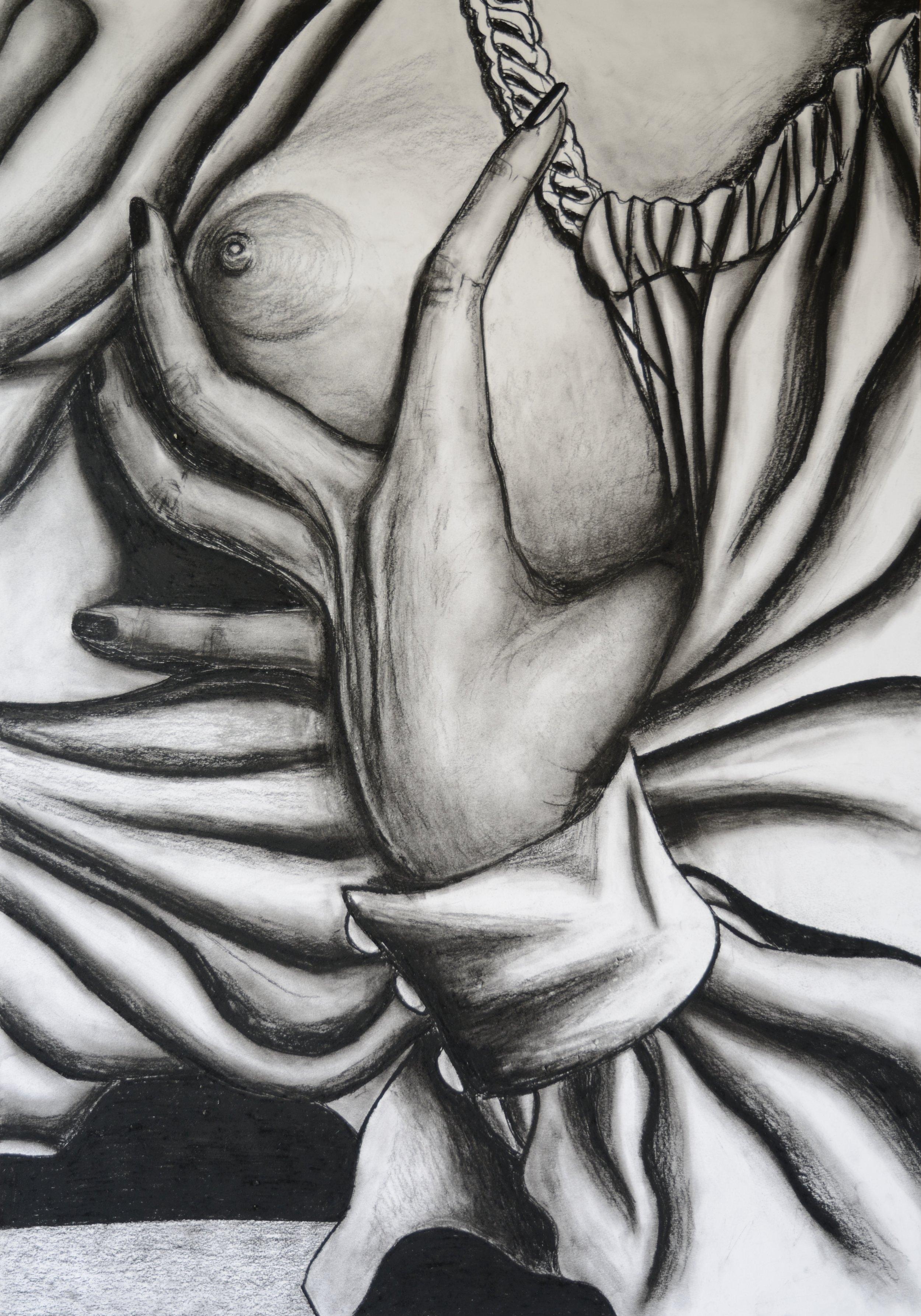No Title, 100x70cm, conte on paper