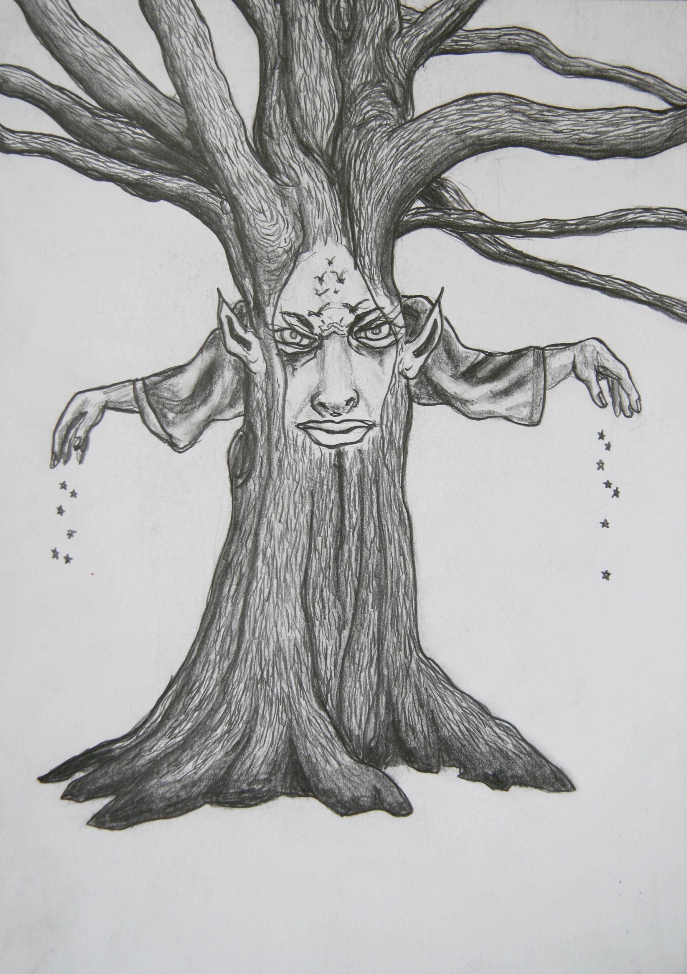De Zaaier, 30x21cm, pencil on paper