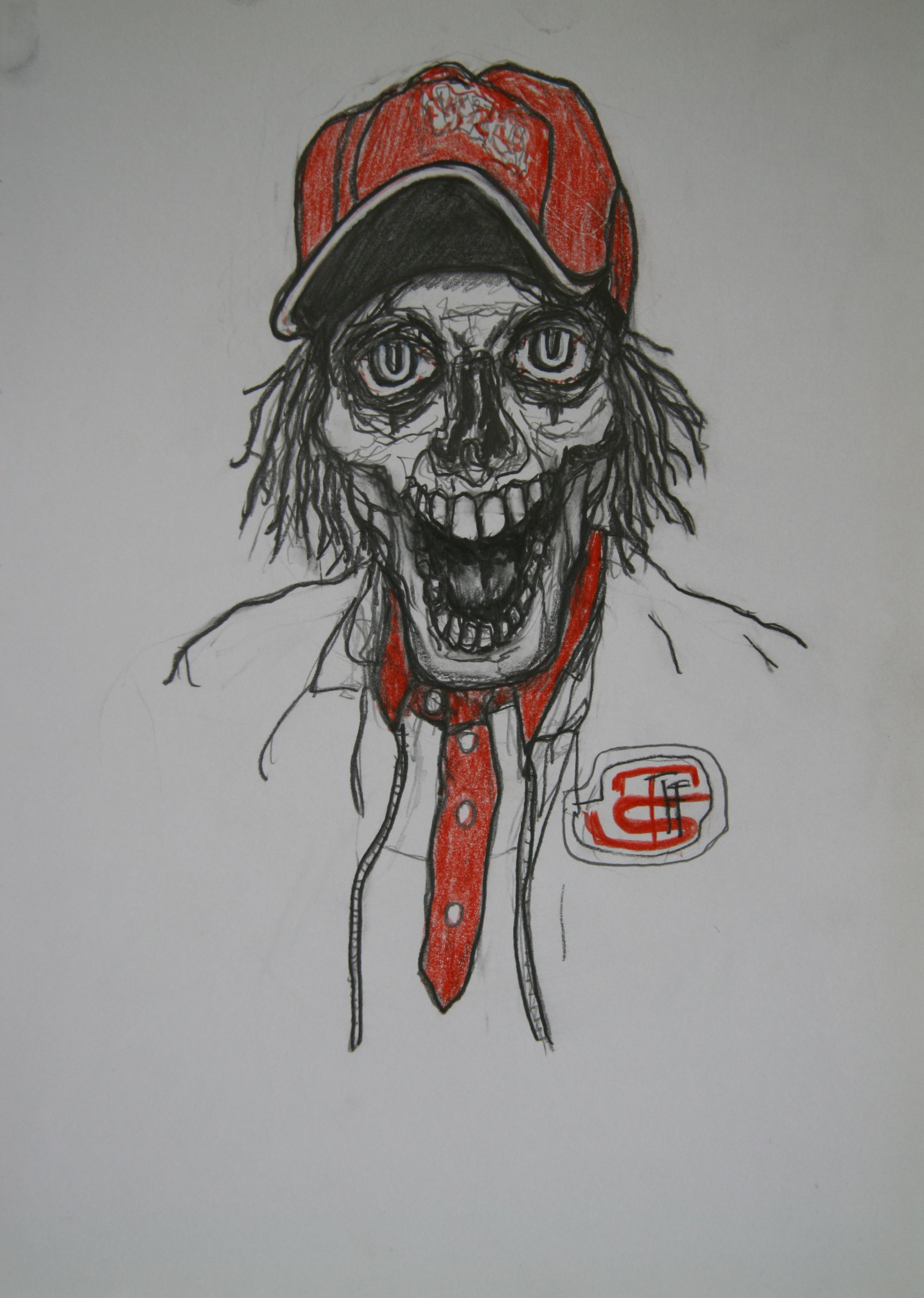 Skull 2, 30x21cm, pencil on paper