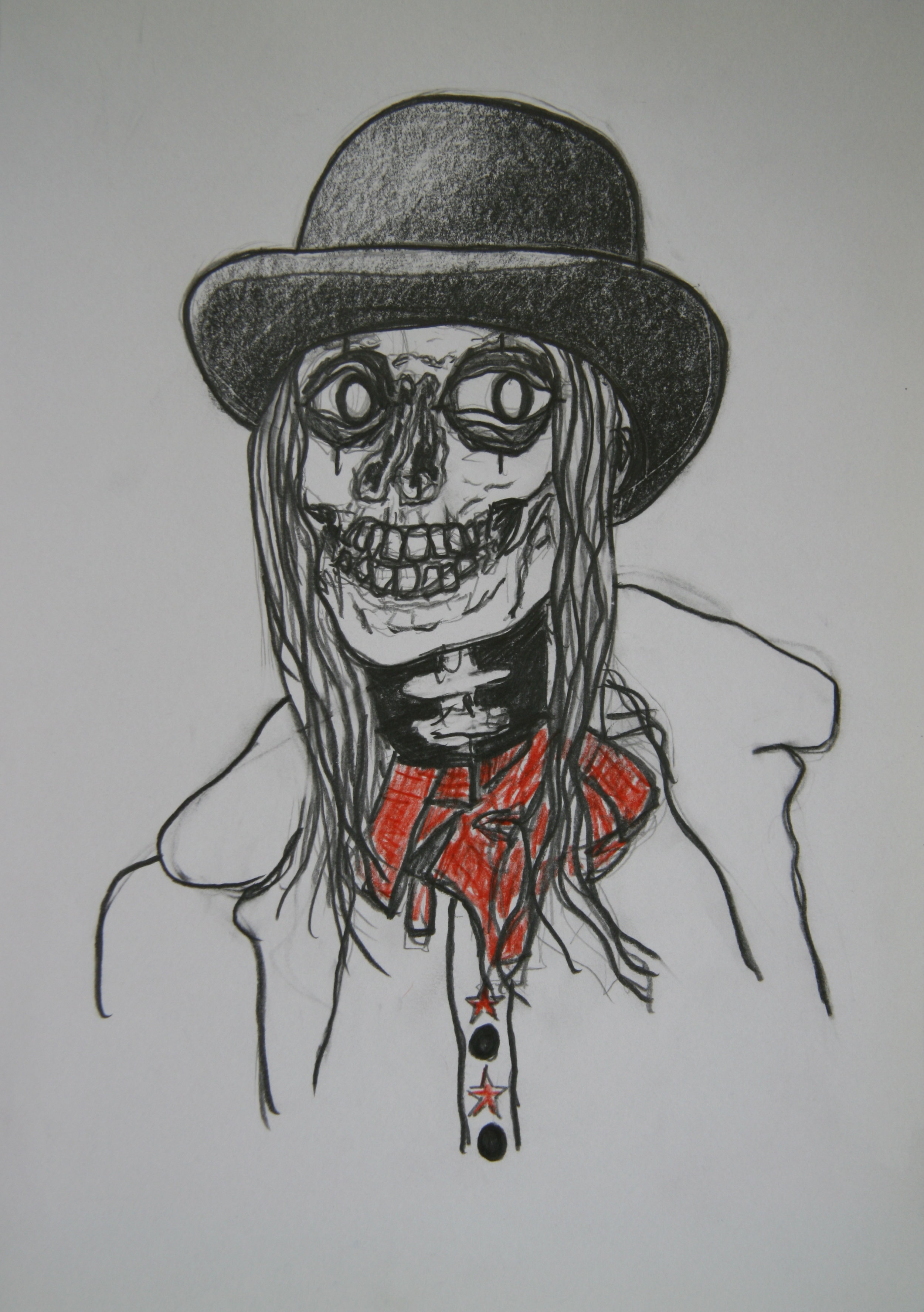 Skull 1, 30x21cm, pencil on paper