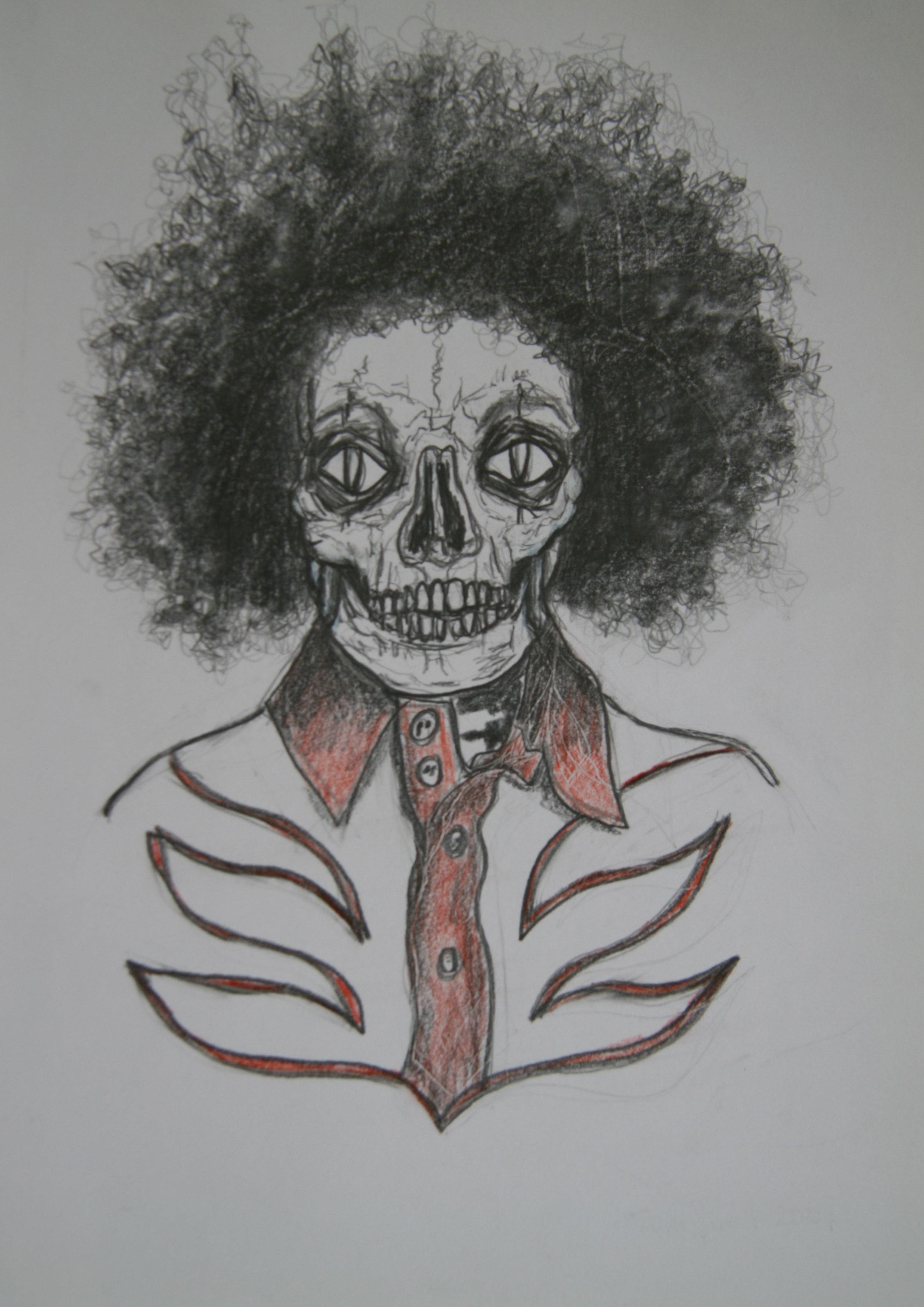 Skull 3, 30x21cm, pencil on paper