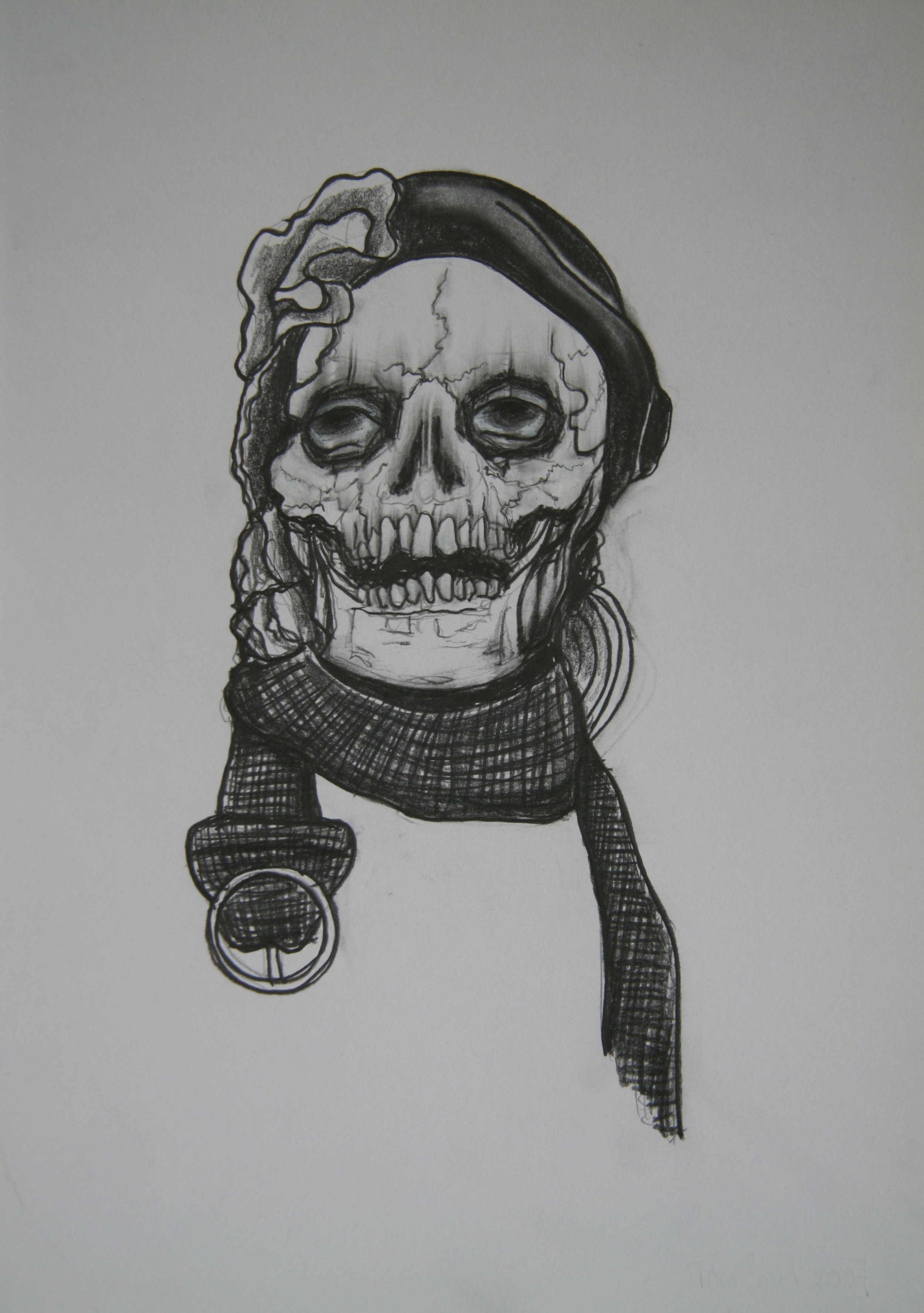 Skull 5, 30x21cm, pencil on paper