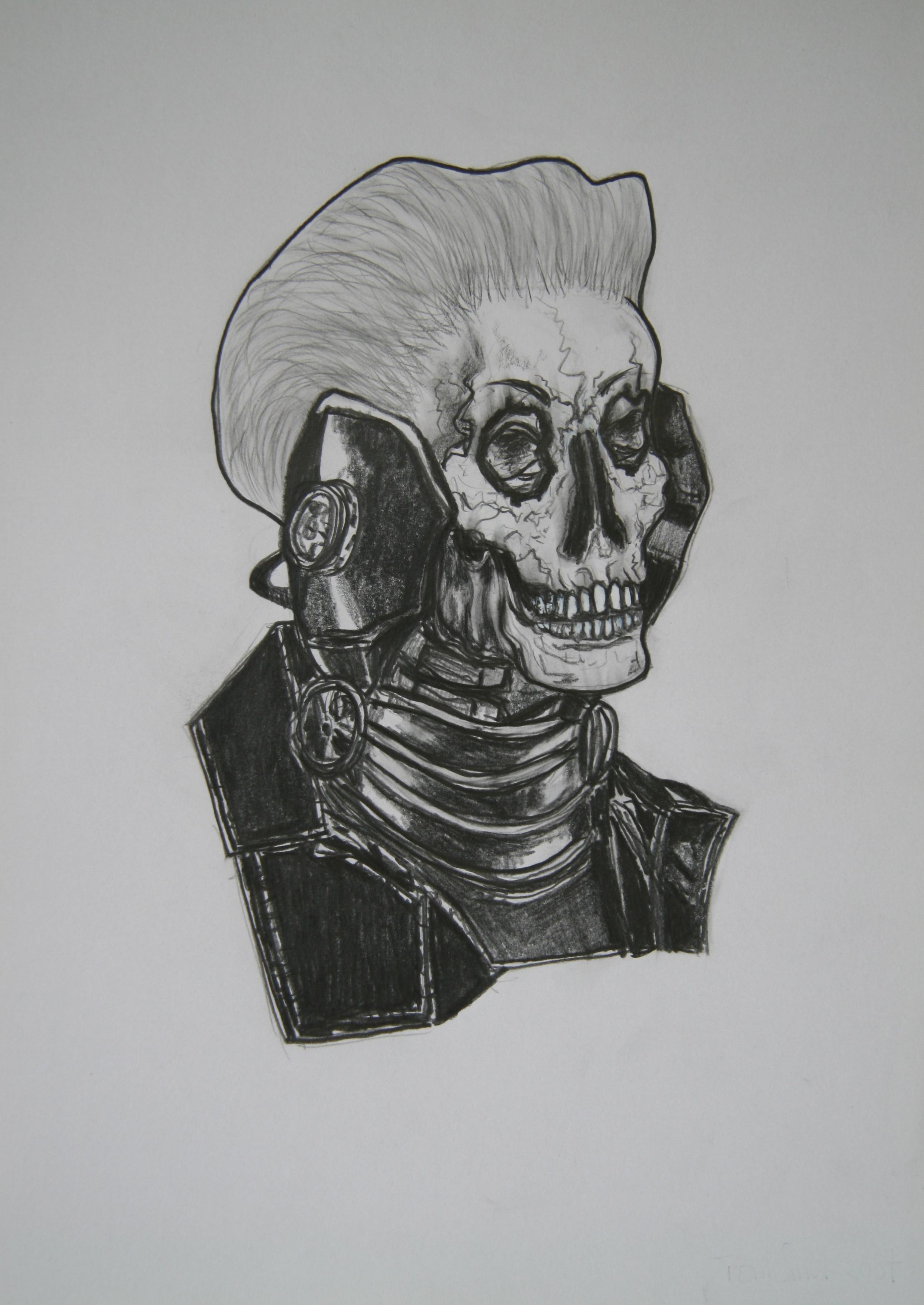 Skull 6, 30x21cm, pencil on paper