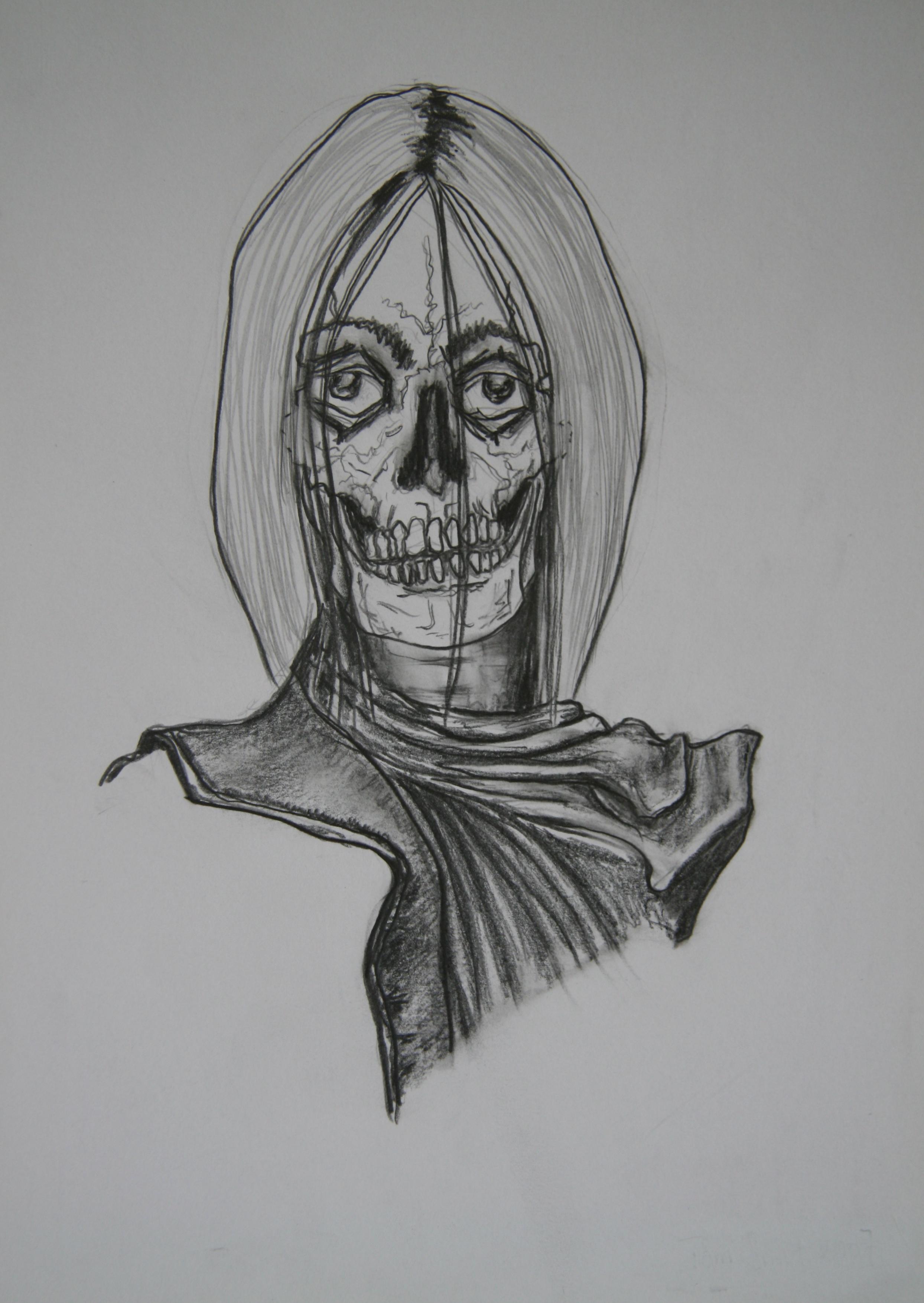 Skull 7, 30x21cm, pencil on paper