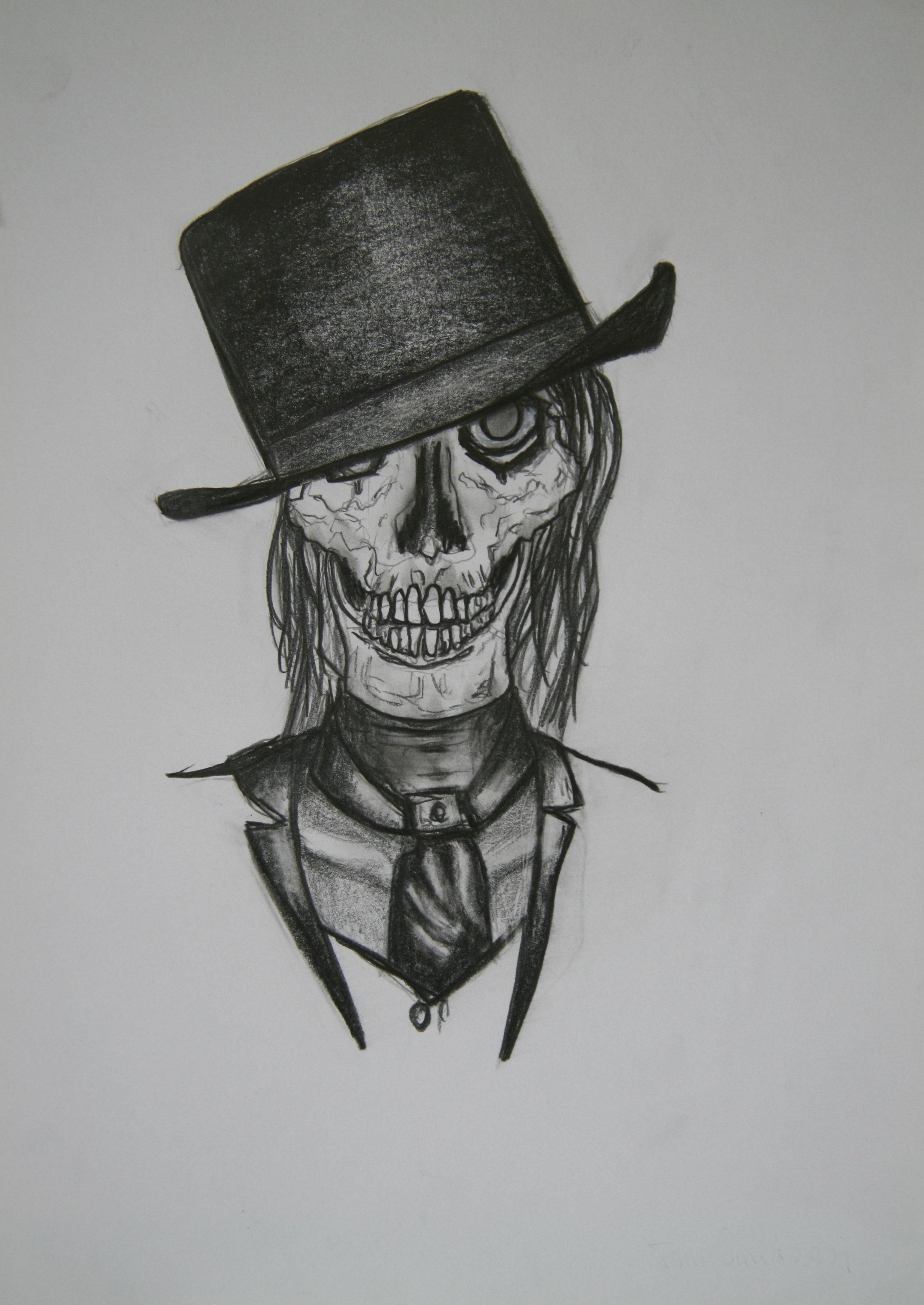 Skull 8, 30x21cm, pencil on paper