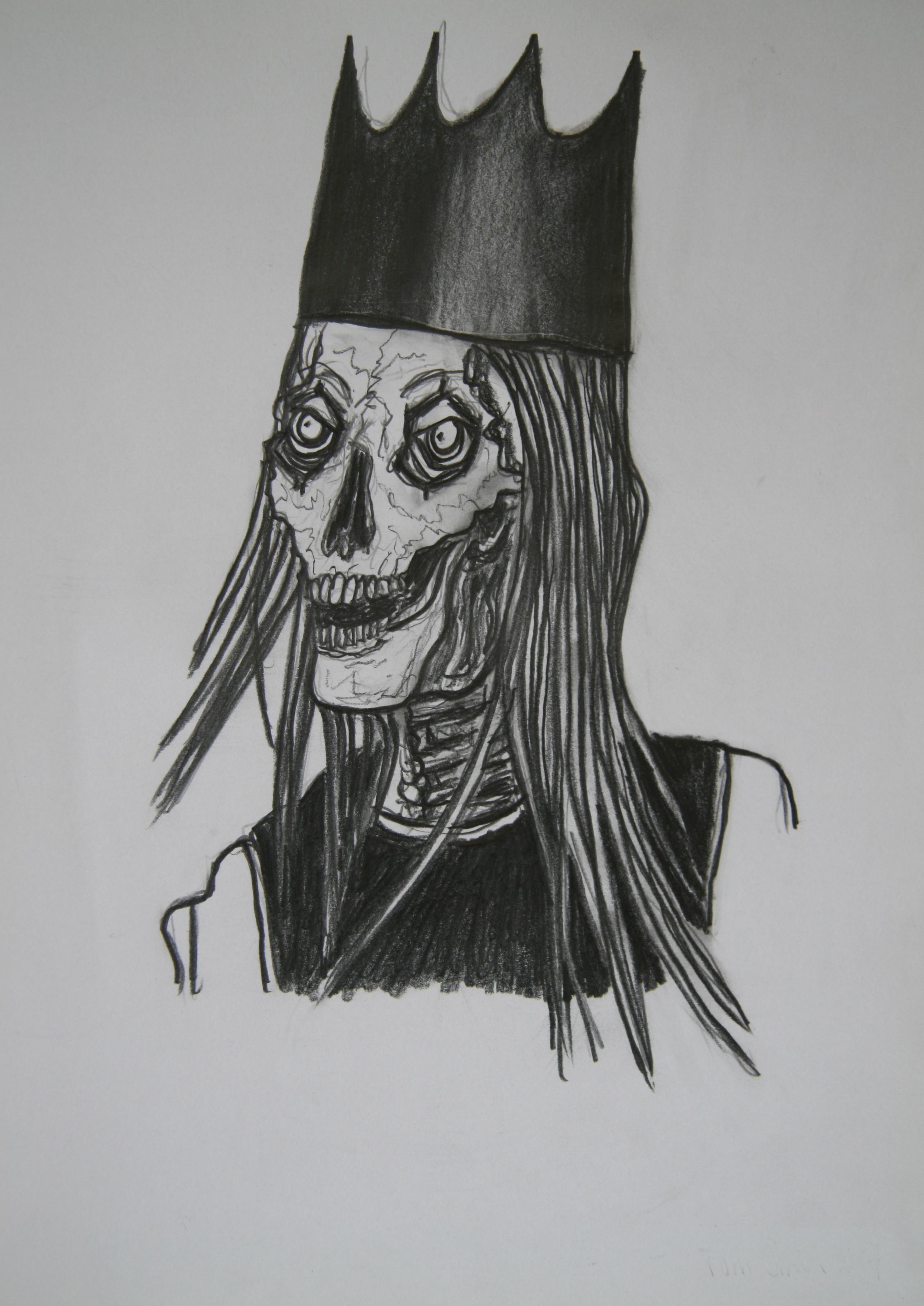 Skull 9, 30x21cm, pencil on paper