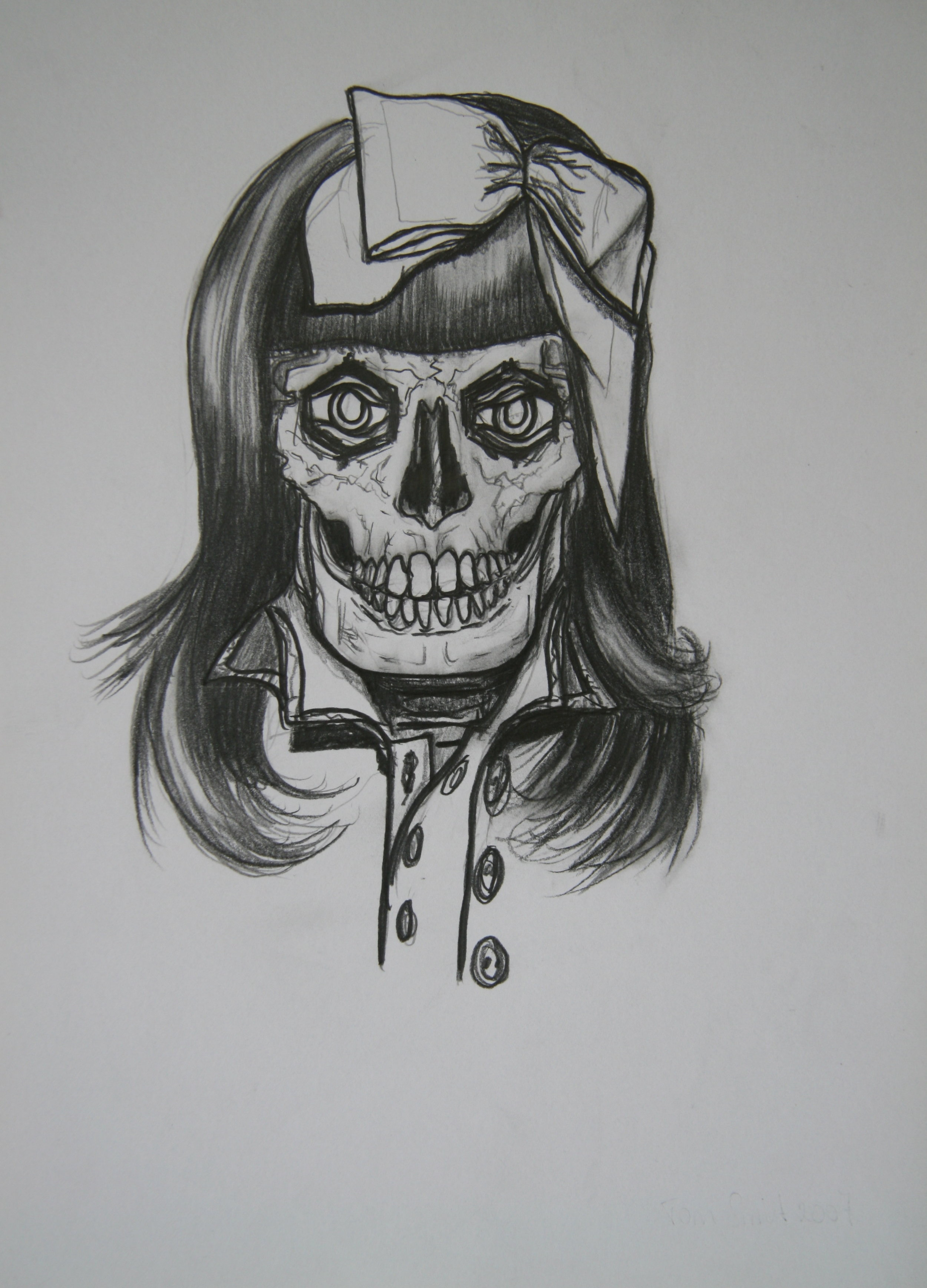 Skull 10, 30x21cm, pencil on paper