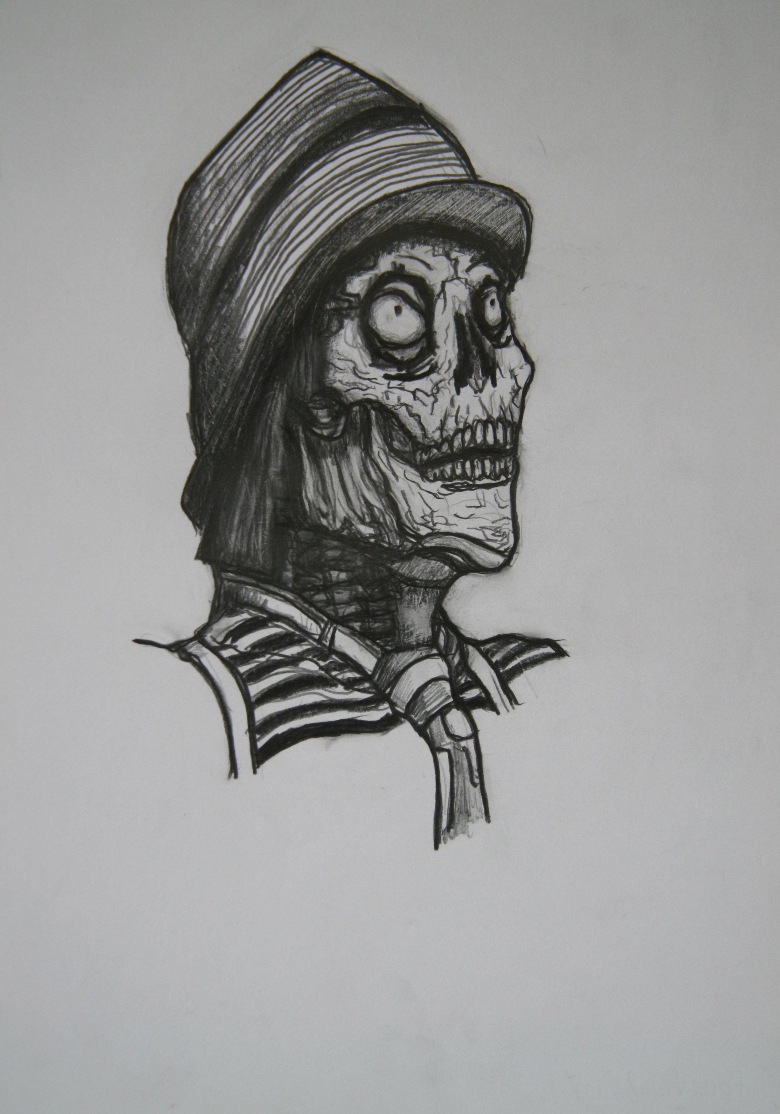 Skull 12, 30x21cm, pencil on paper