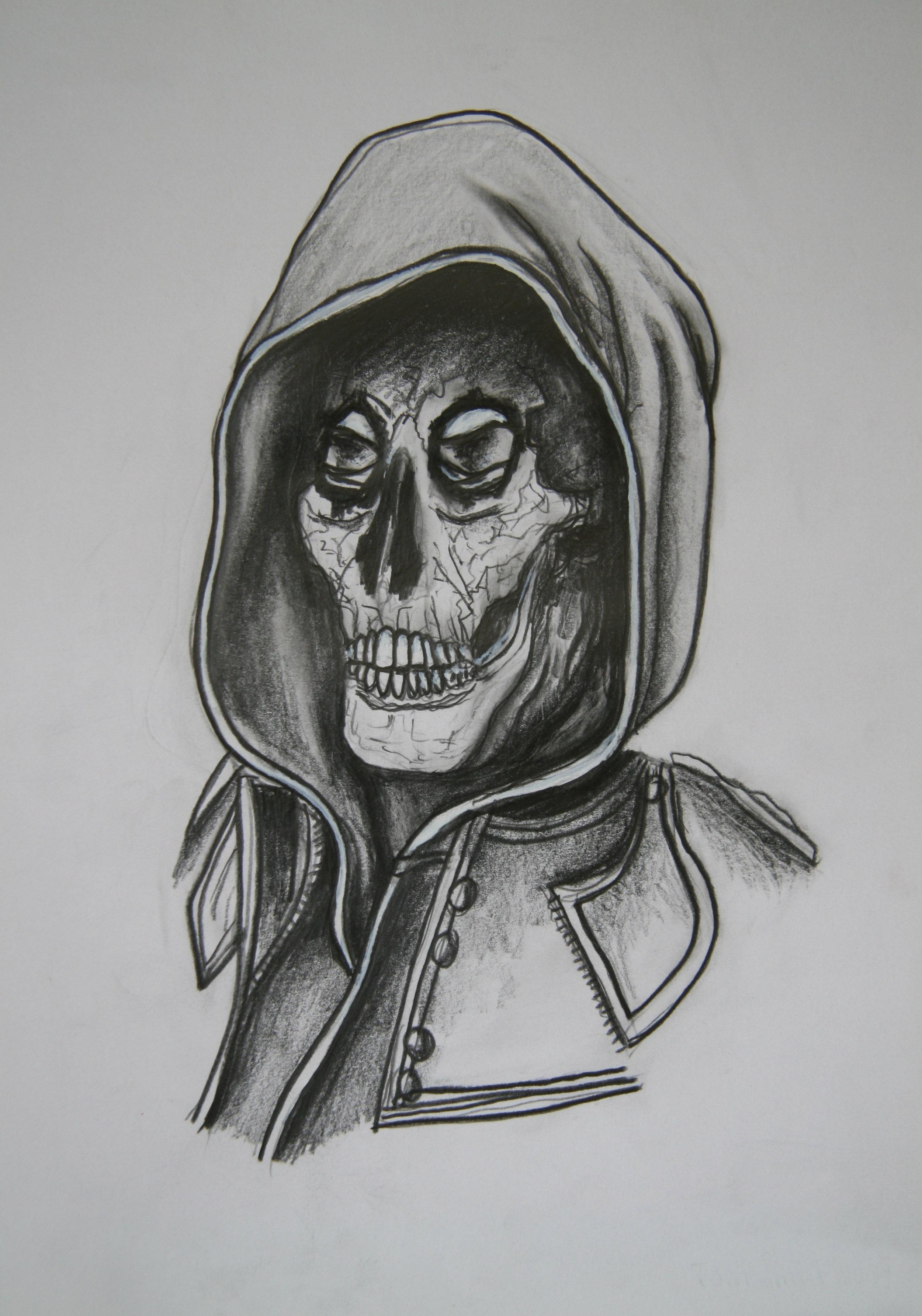 11. 2007 Skull 11, 30x21cm, pencil on paper .jpg