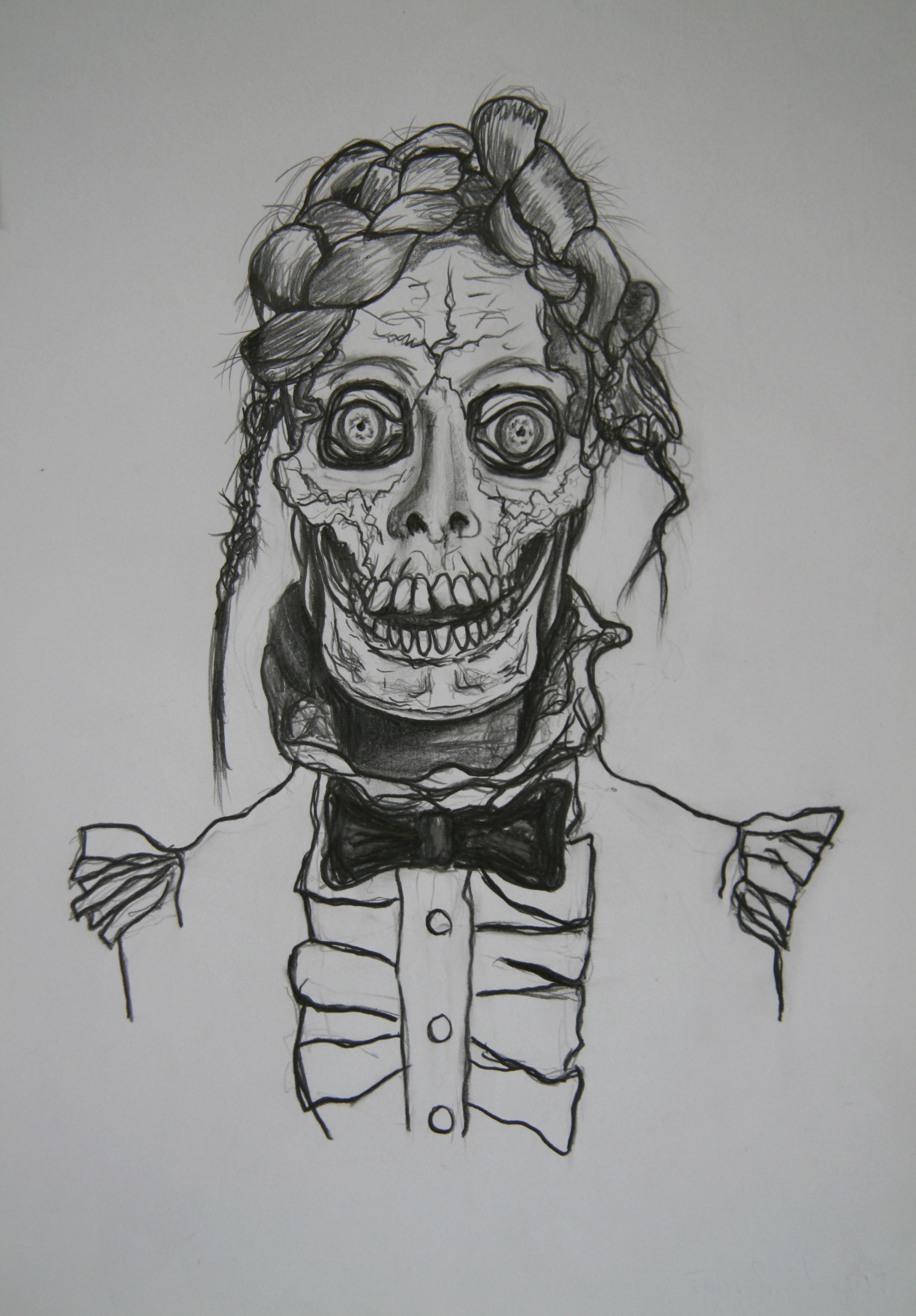 Skull 14, 30x21cm, pencil on paper