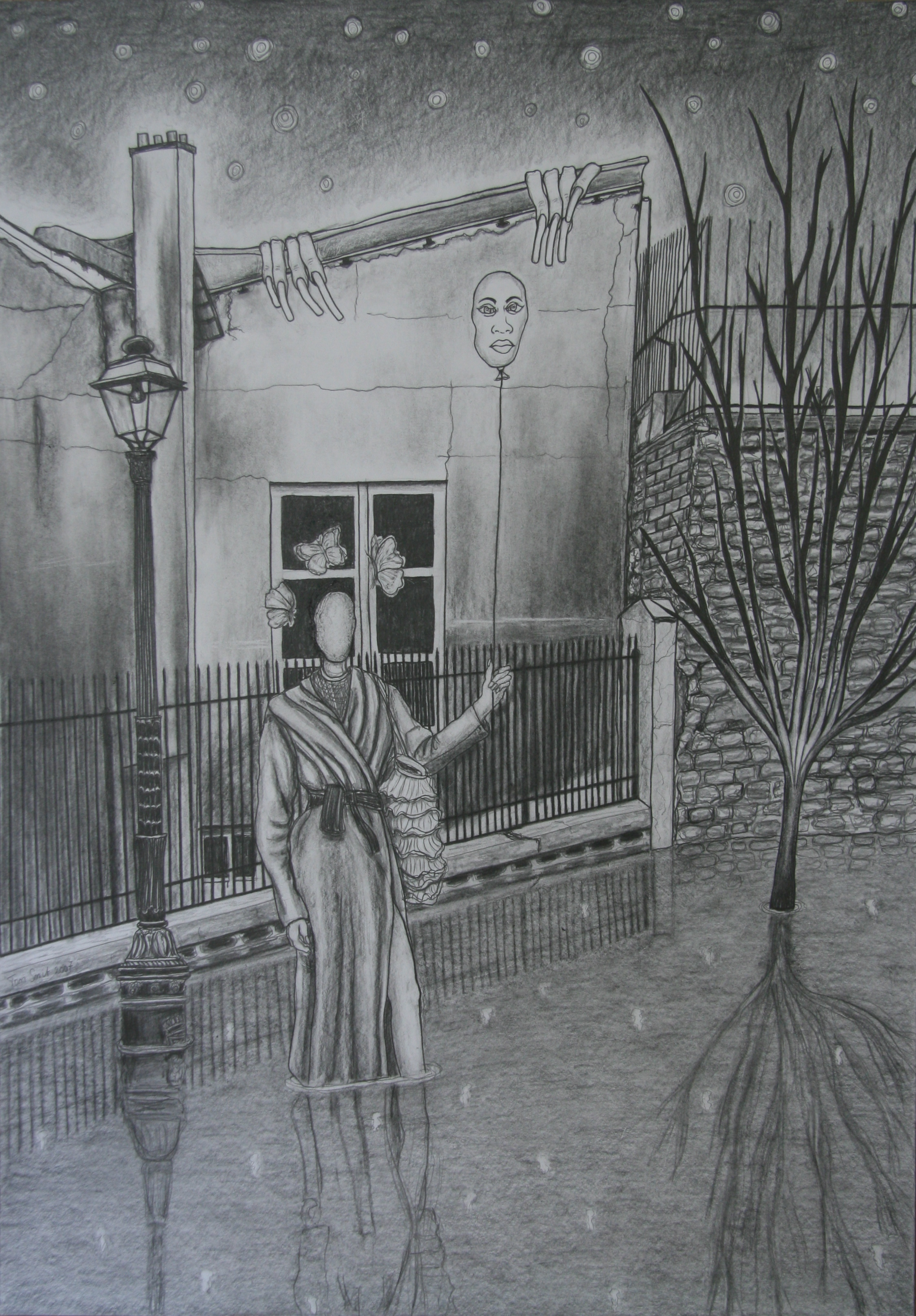 Dag Nacht, 100x70cm, pencil on paper