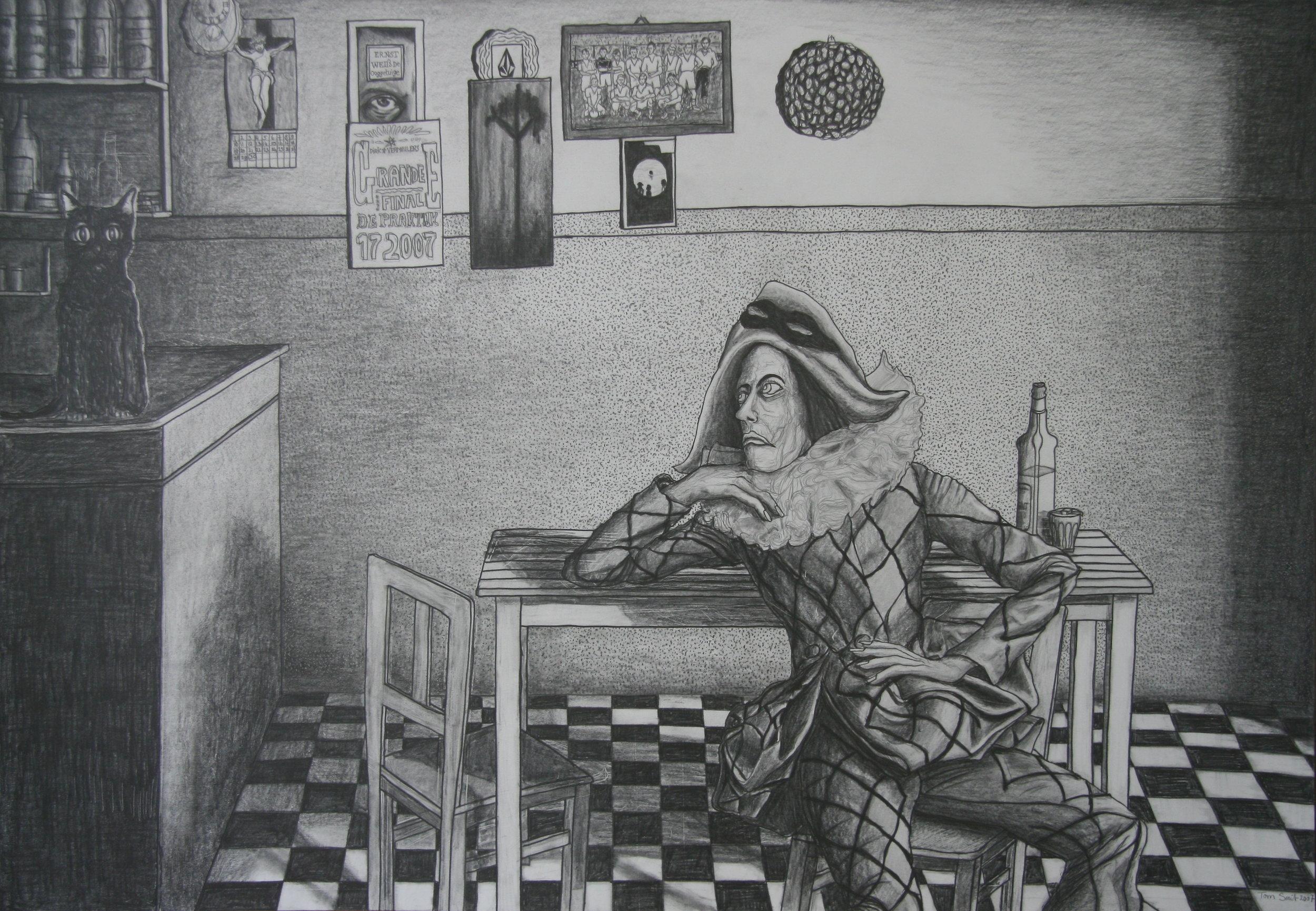 De Vale Kater, 170x100cm, pencil on paper