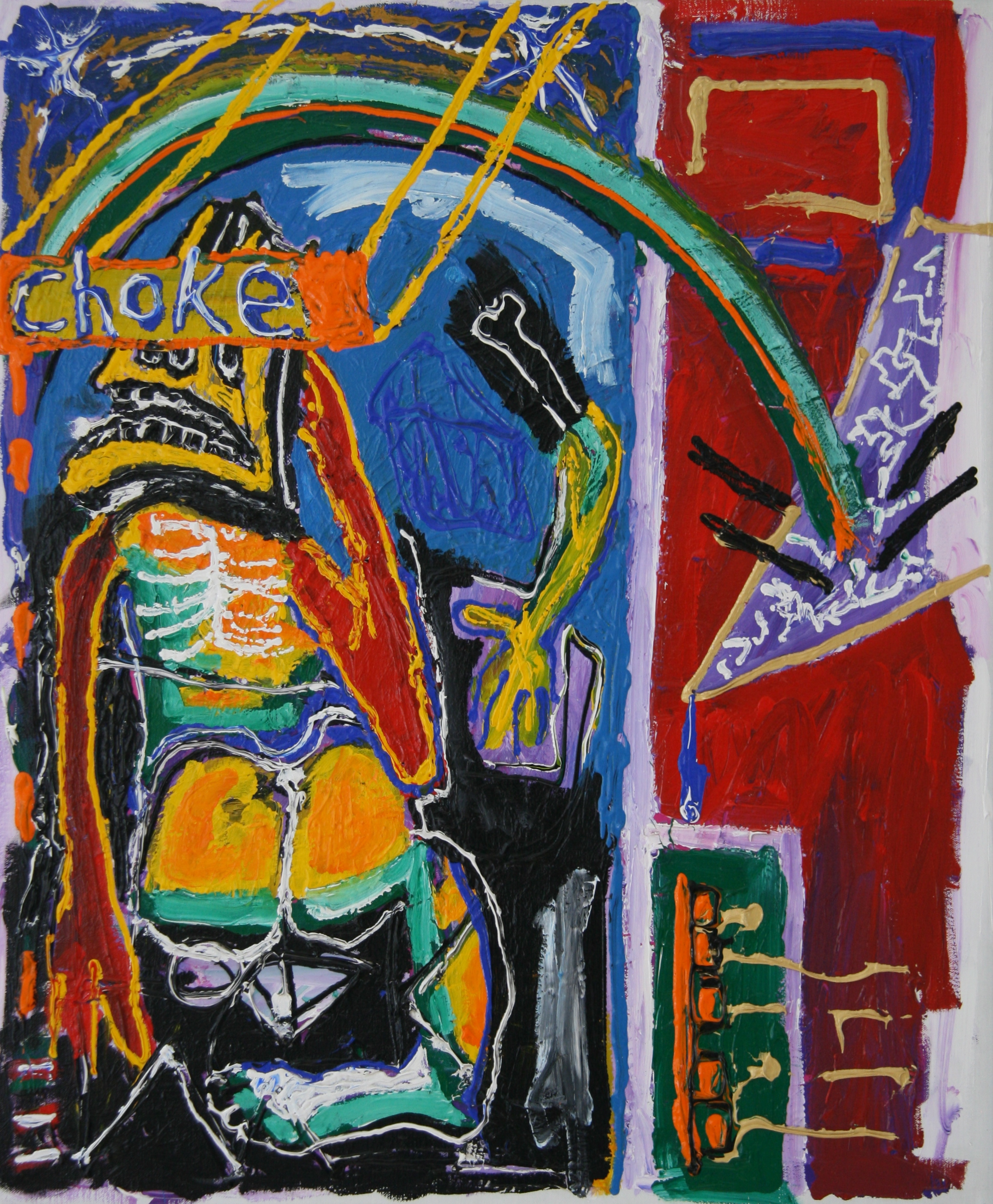 no title, 60x50cm, acrylic on canvas