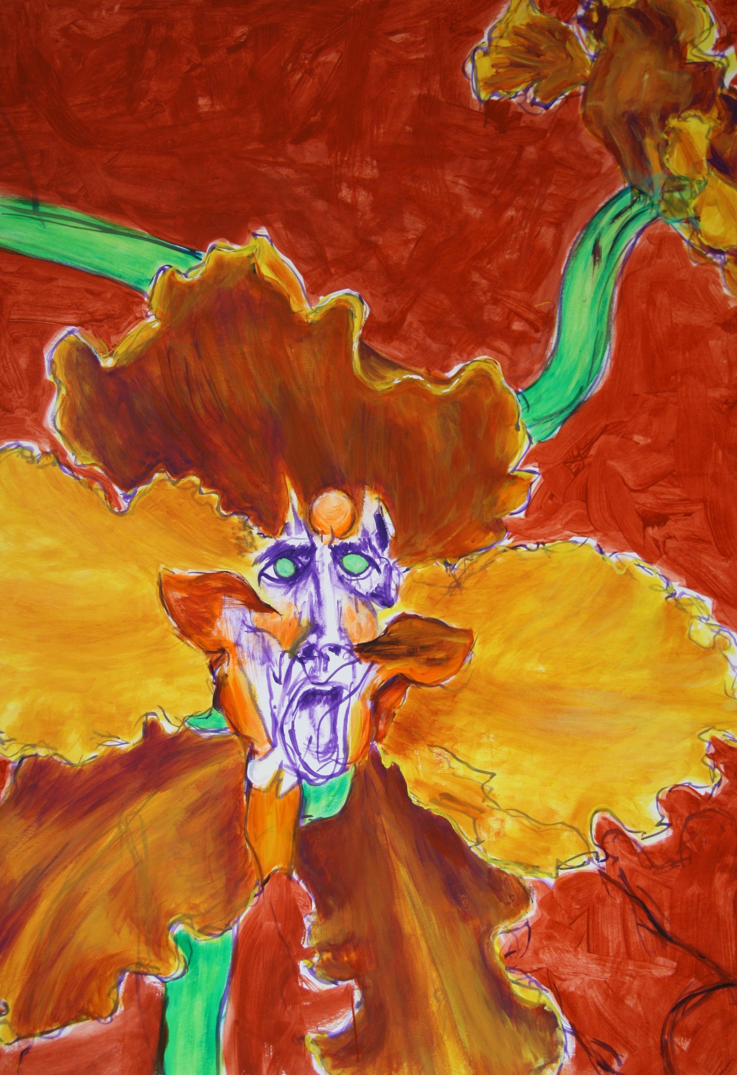 Die Begeisterte Blume 1, 100x70cm, acrylic on paper