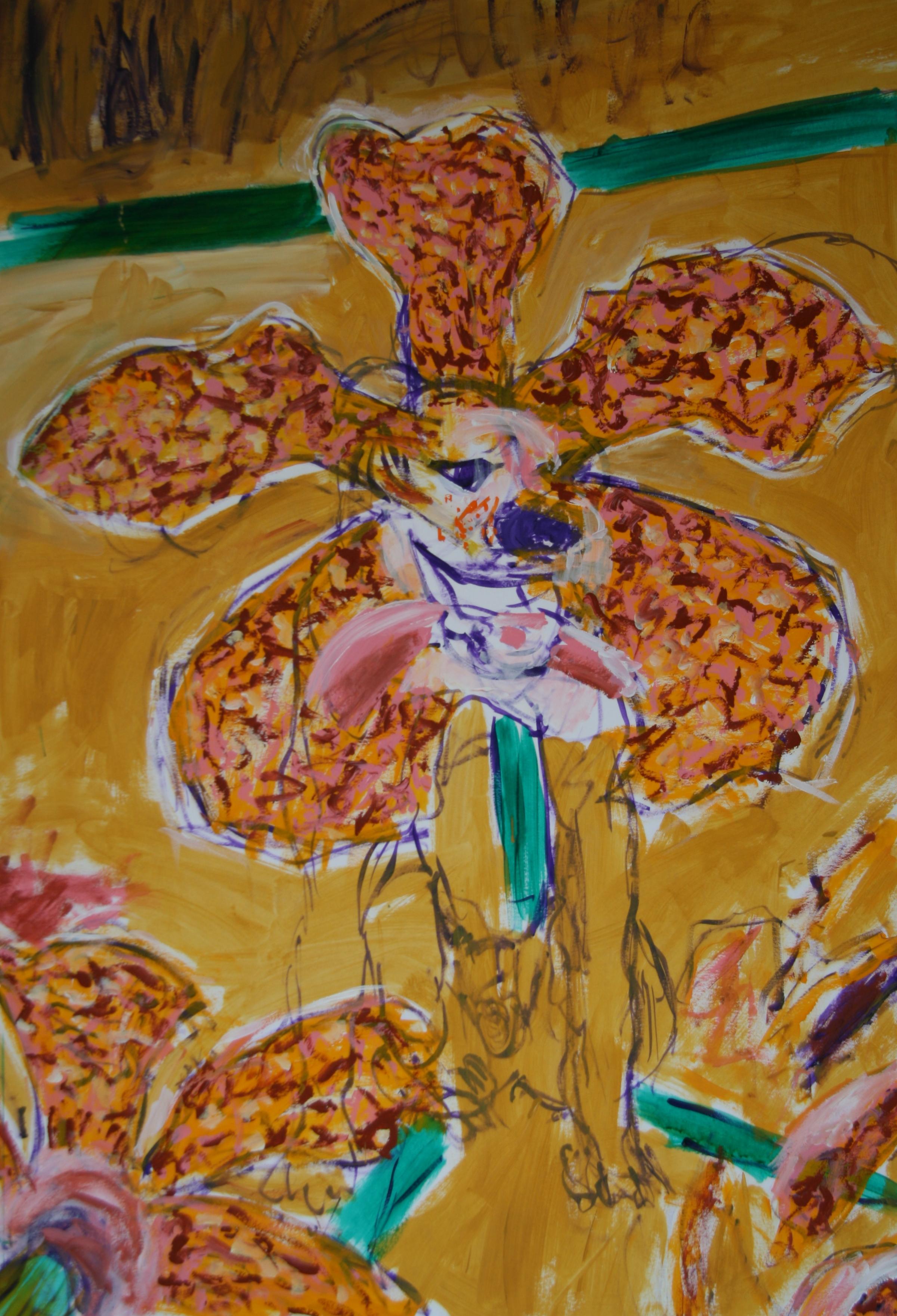 Die Begeisterte Blume 5, 100x70cm, acrylic on paper