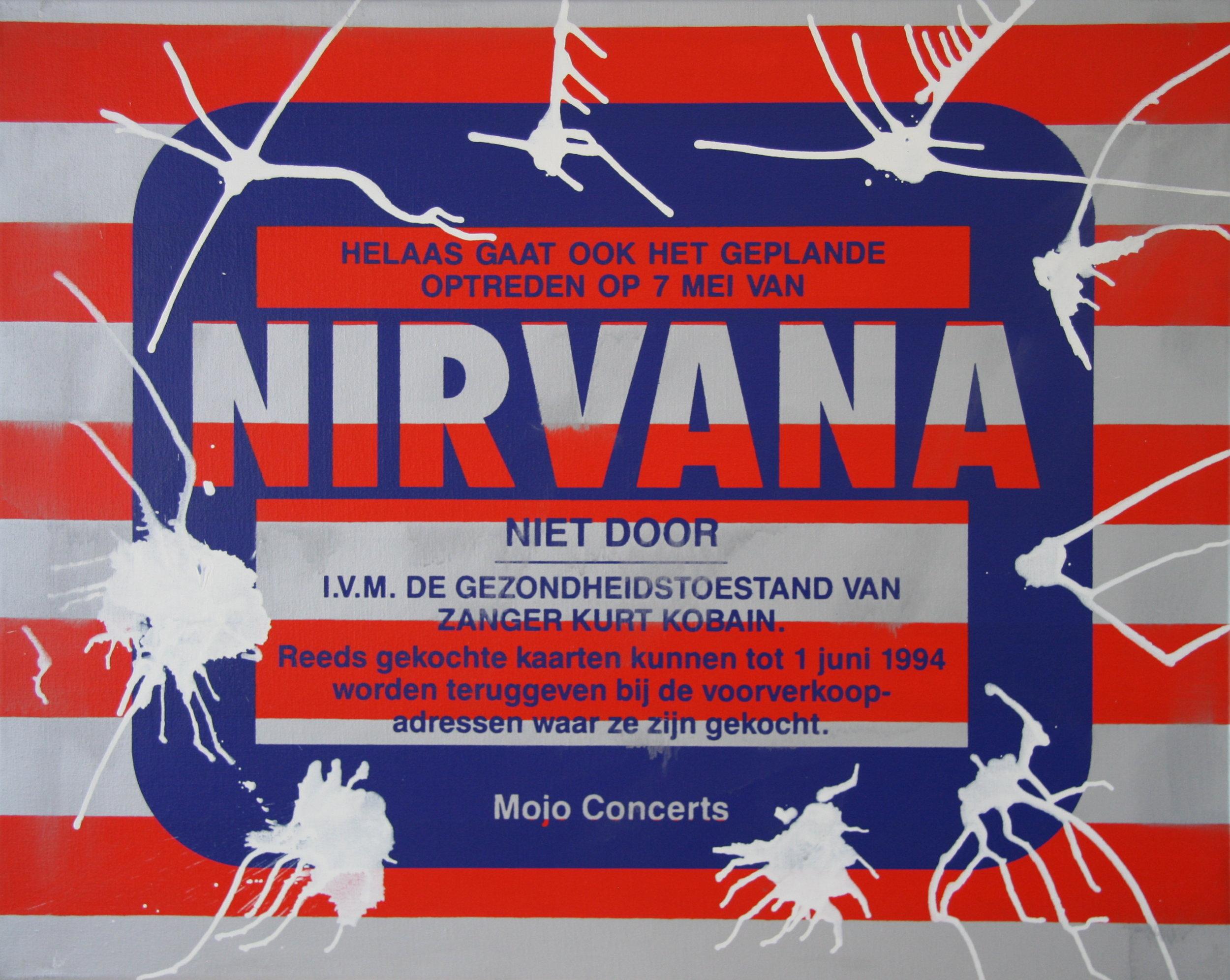 Nirvana, 80x100cm,  silcscreen and acrylic on canvas