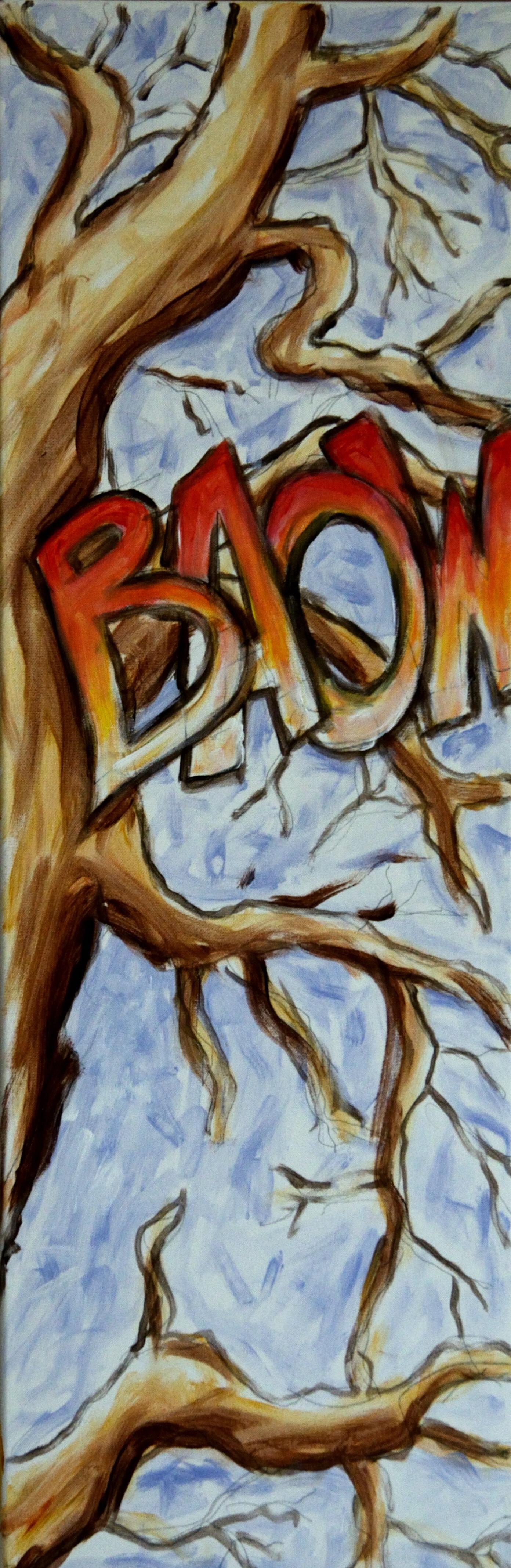 02. Study Death in Comics 1, acrylic on canvas, 90x30cm, 2019 .JPG