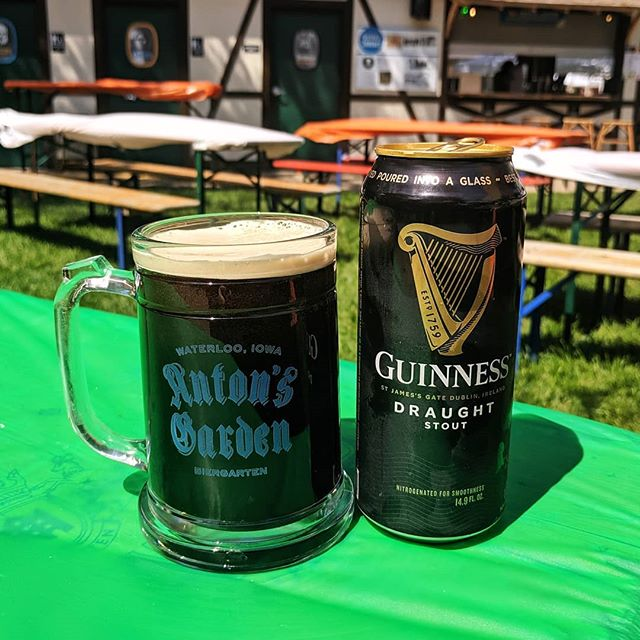 Thirsty for a little Guinness? We have it at the Garden all weekend! Join us for some Irish fun at  @iowairishfest, we would love to see you.