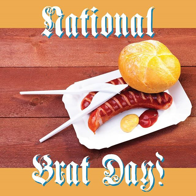 It's National Bratwurst Day! And of course we have to celebrate, how could we not? 😄 Just today, Friday the 16th, our bratwurst will be only $2! Limit is one per customer. A perfect Friday lunch break! 🌭