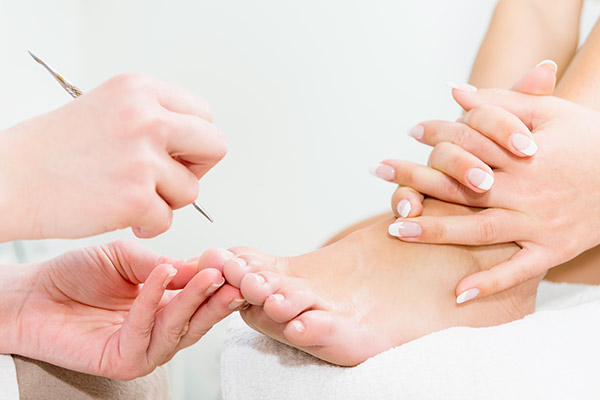 The Ultimate Pedicure Package - A relaxing and rejuvenating leg and foot treatment to relieve tired feet. The must have treatment before your holidays! This is a treatment for cracked heels, thickened skin, thickened & dis-coloured toe-nails and removal of callous/corns and hard skin from toes, heels, soles and feet. Includes foot soak and foot scrub and then to finish with Gel Toes in French or colour this can last for up to 4-6 weeks.€80