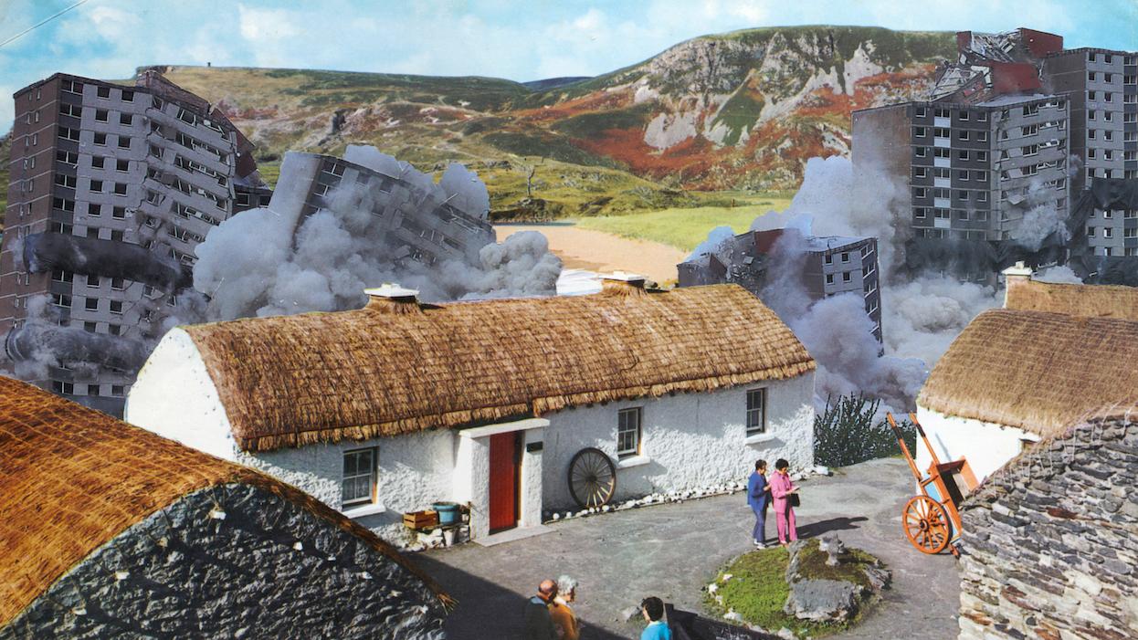 Evidence of Controlled Demolition at Fr. McDyer's Folk Village, Glencolmcille, Co. Donegal by Seán Hillen.