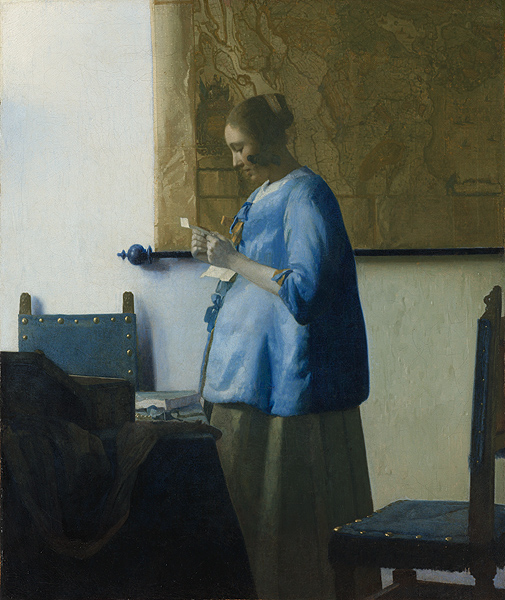 Woman in Blue Reading a Letter - Vermeer