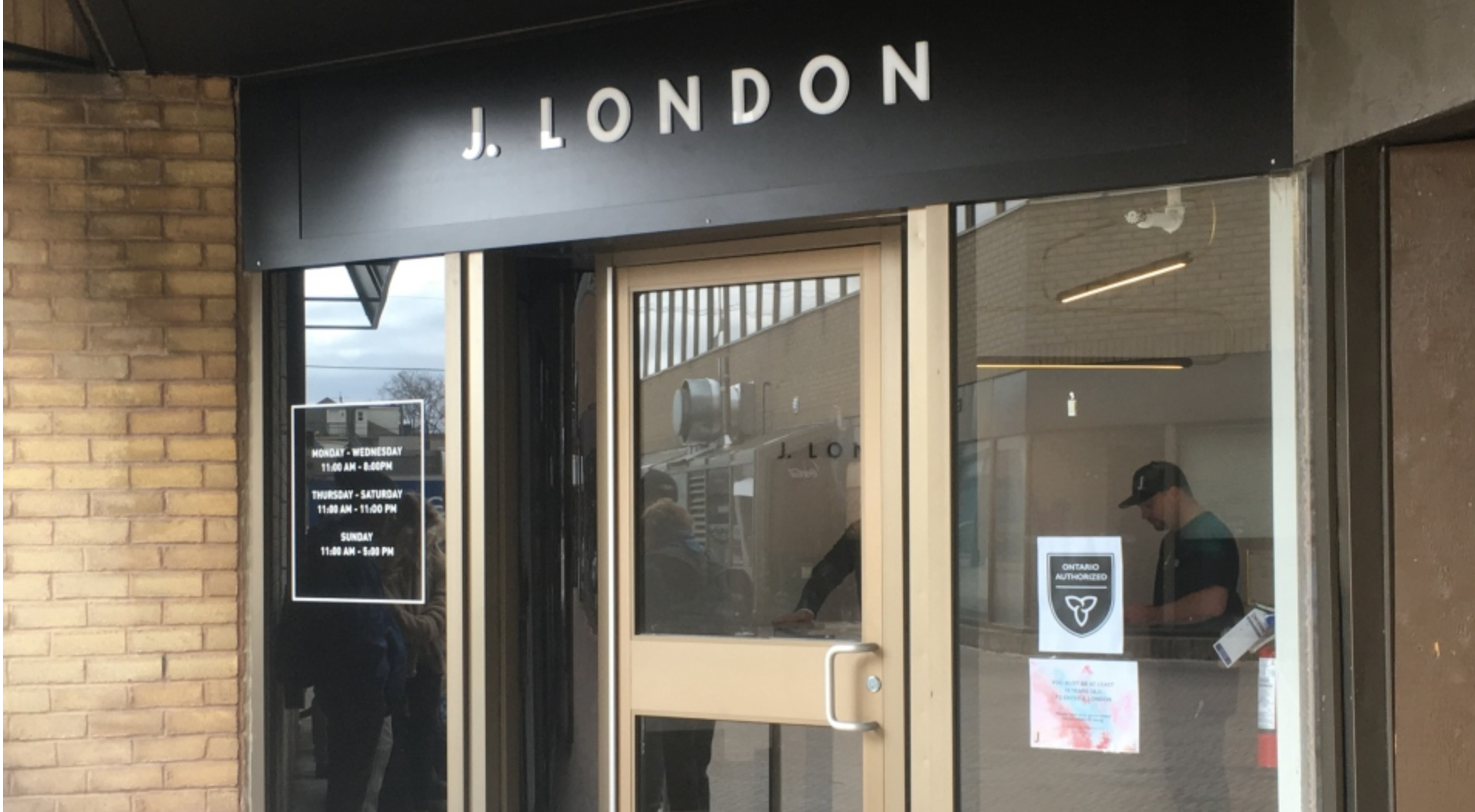 J. London, the second cannabis storefront in London, Ont. opened for business on Wednesday, April 10, 2019. (Jim Knight / CTV London)