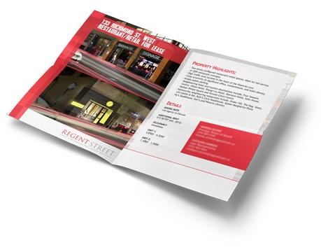 Regent Street commercial real estate property brochure