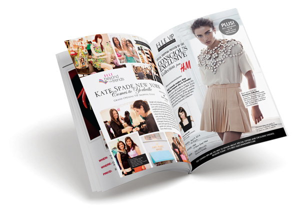 Post-event advertorial for Elle Canada/Kate Spade New York and Elle Canada/H&M events.