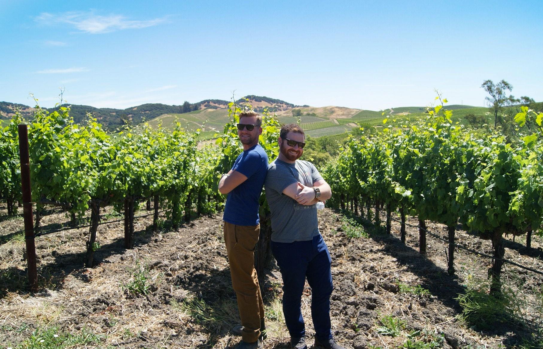 Matt and Ben in Las Madres Vineyard.