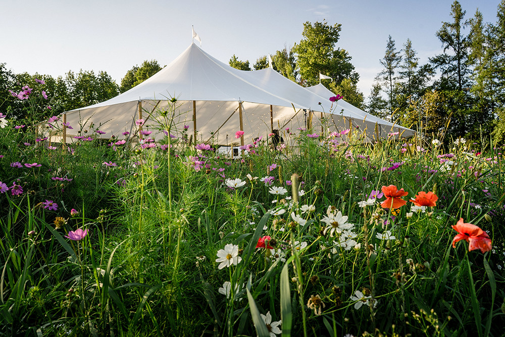 photo by  Michael Tallman Photography  | tent by  Vermont Tent Company