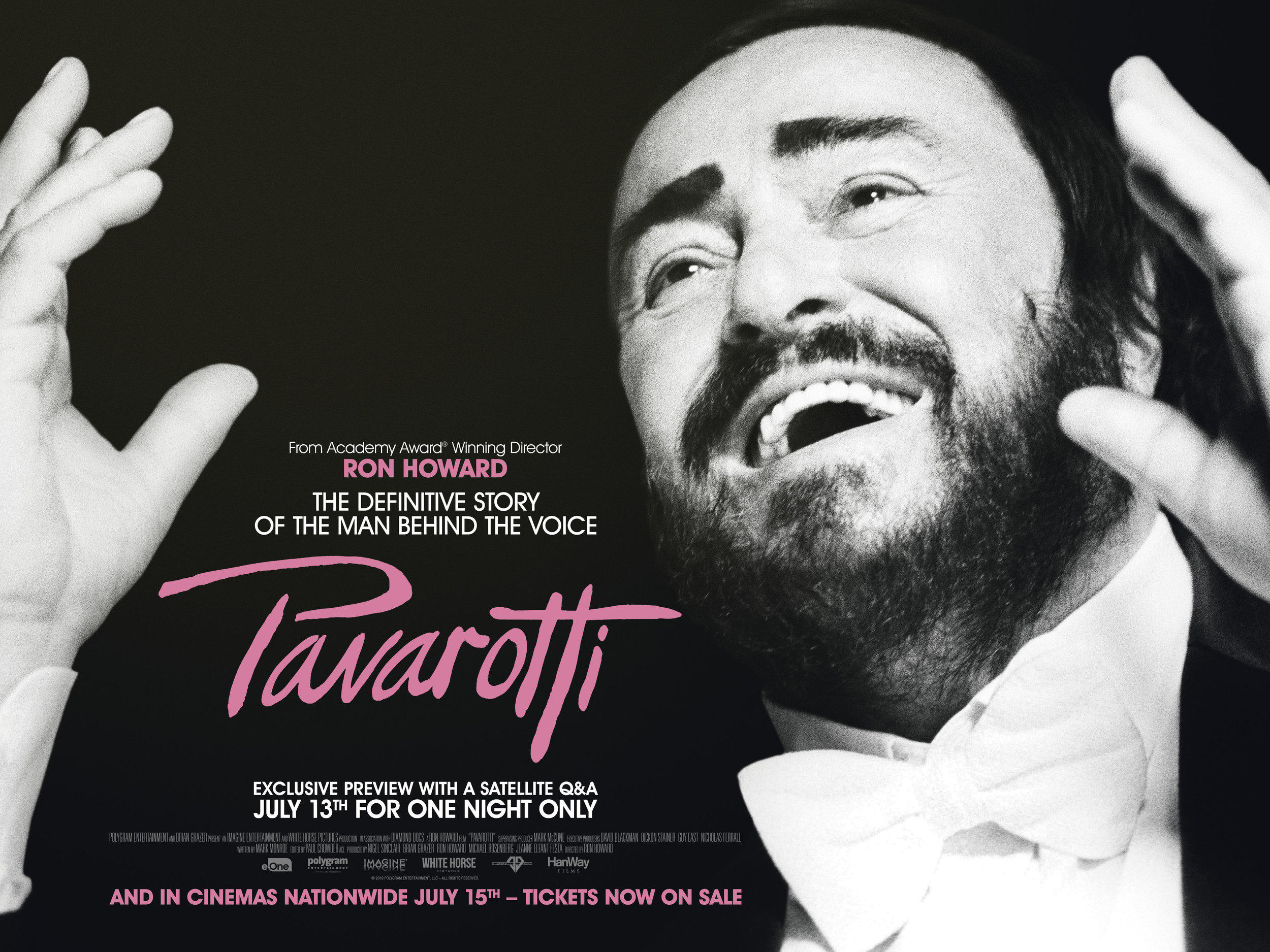PAVAROTTI - Exclusive information about the film - which can be used to enhance your cinema experience