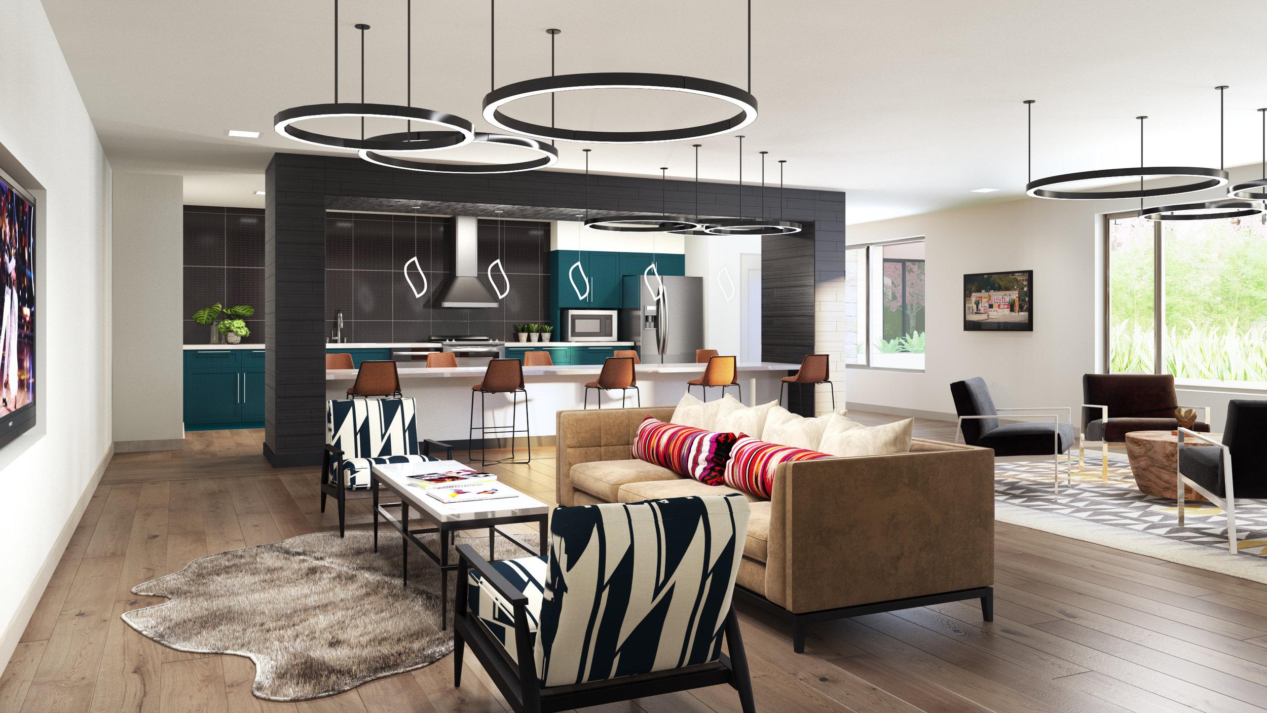 The Braxton apartments Social lounge party apartmetns