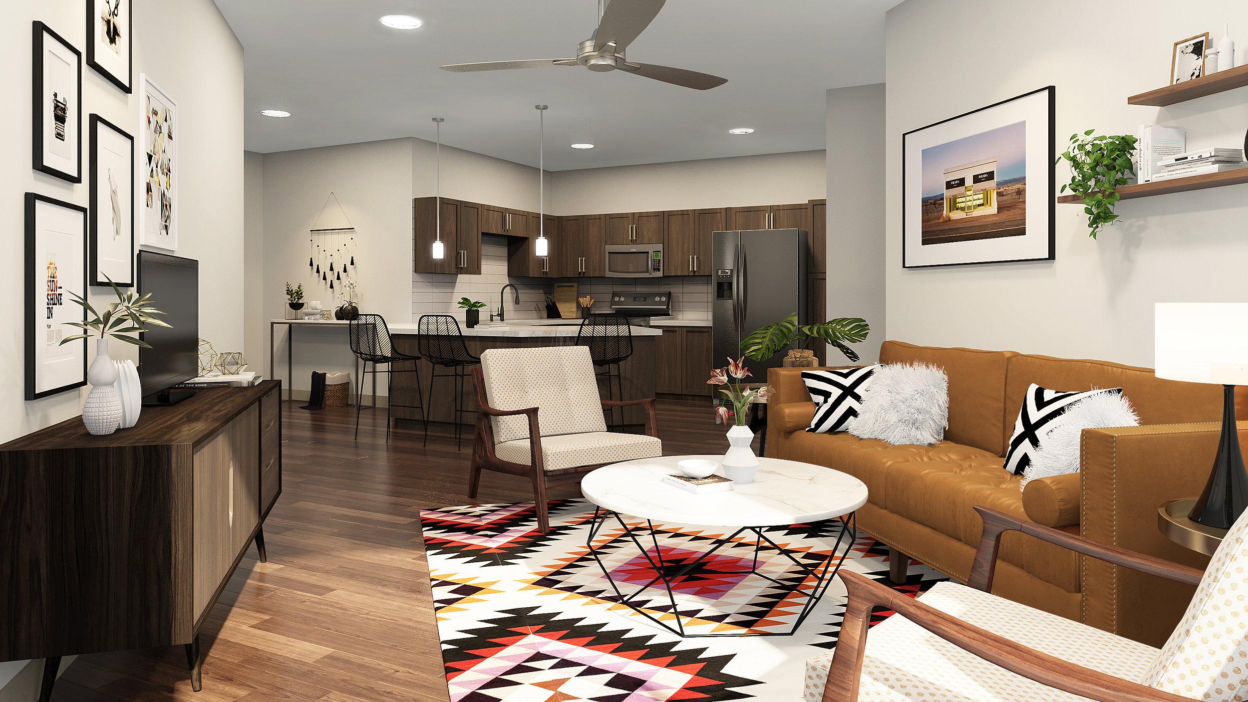 Modern large floor plans @ The Braxton
