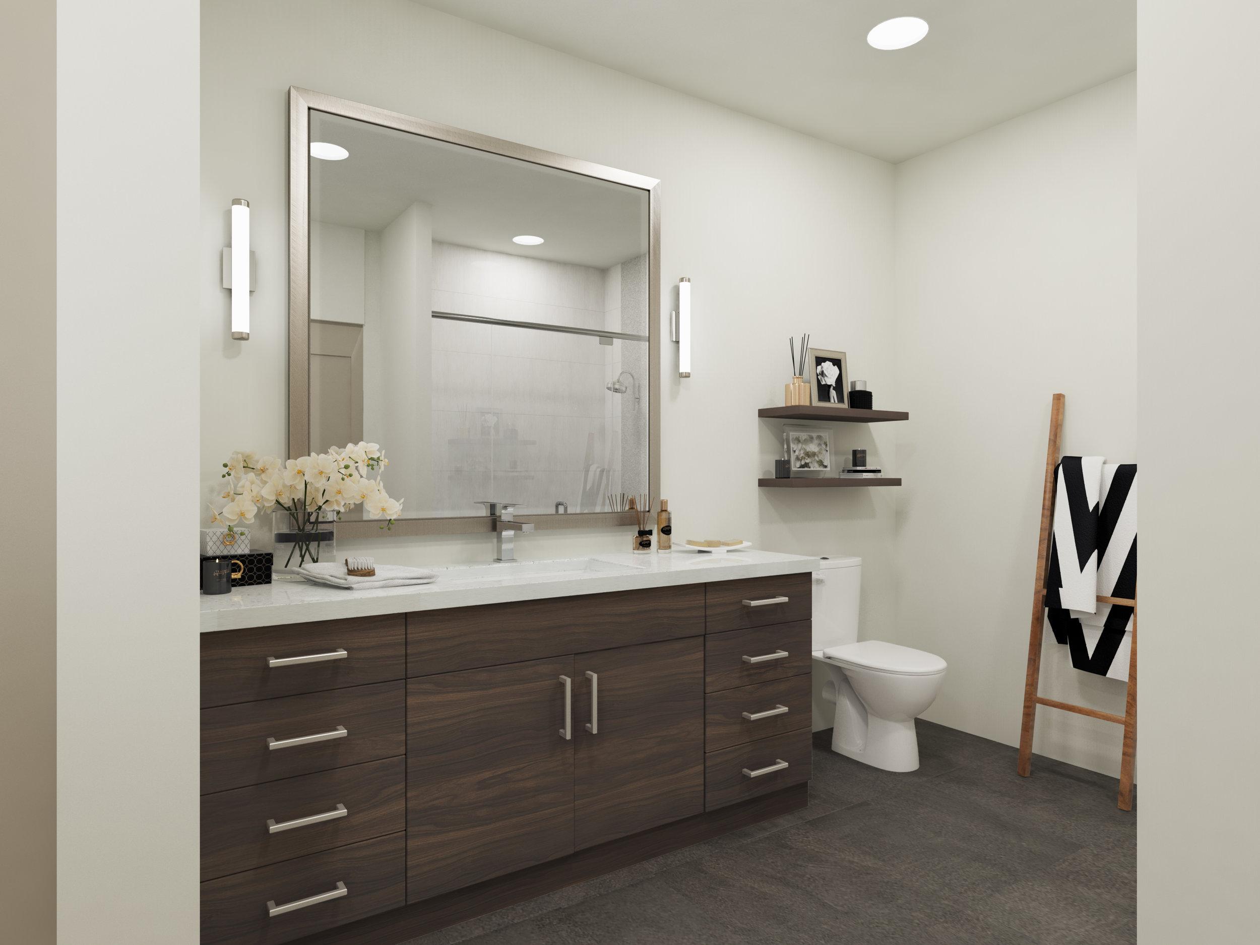 Spa-like bathrooms @ The Braxton