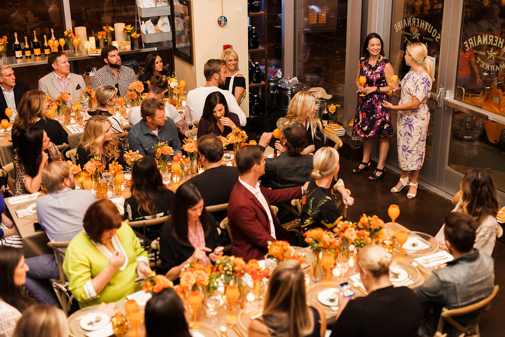 The Southernaire Market - The Southernaire Market is also available to reserve for private events. Perfect for intimate dinner parties, lively cocktail receptions, or that special event that needs a bit of Southern charm, the space accommodates up to 30 guests seated and 40 standing.