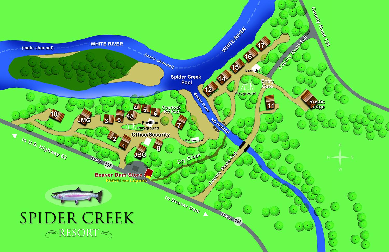 Spider Creek Resort Map — Spider Creek Resort