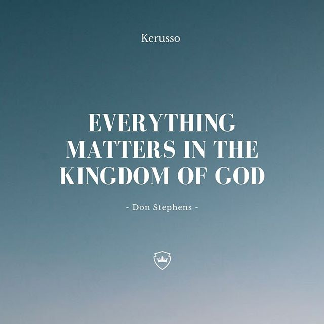 Everything matters in the kingdom - this is a strong value we carry in kerusso. As we are getting closer to the kingdom school 2019 we apply this truth to everything we do. The big things & the small things. . . There is still time to register for this school and join us on July 13th! Visit kerussoministries.com for more information! #kerussoministries #kingdomschool #riodejaneiro #kerusso #kingdom #thekingdom #brazil  Quote: @don.k.stephens