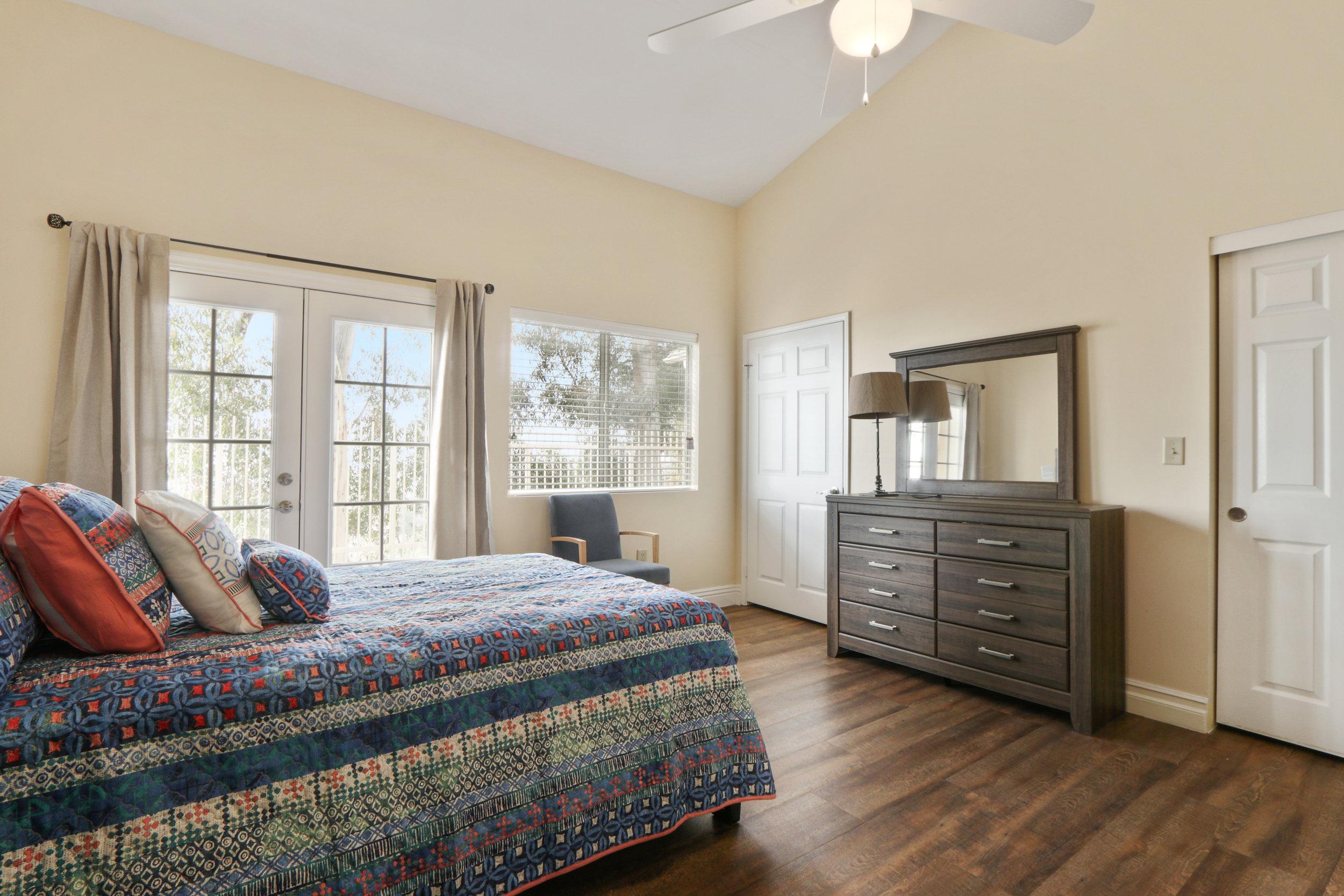ROOM #2 - John Wayne - A full size bed with gorgeous white-wash finish.