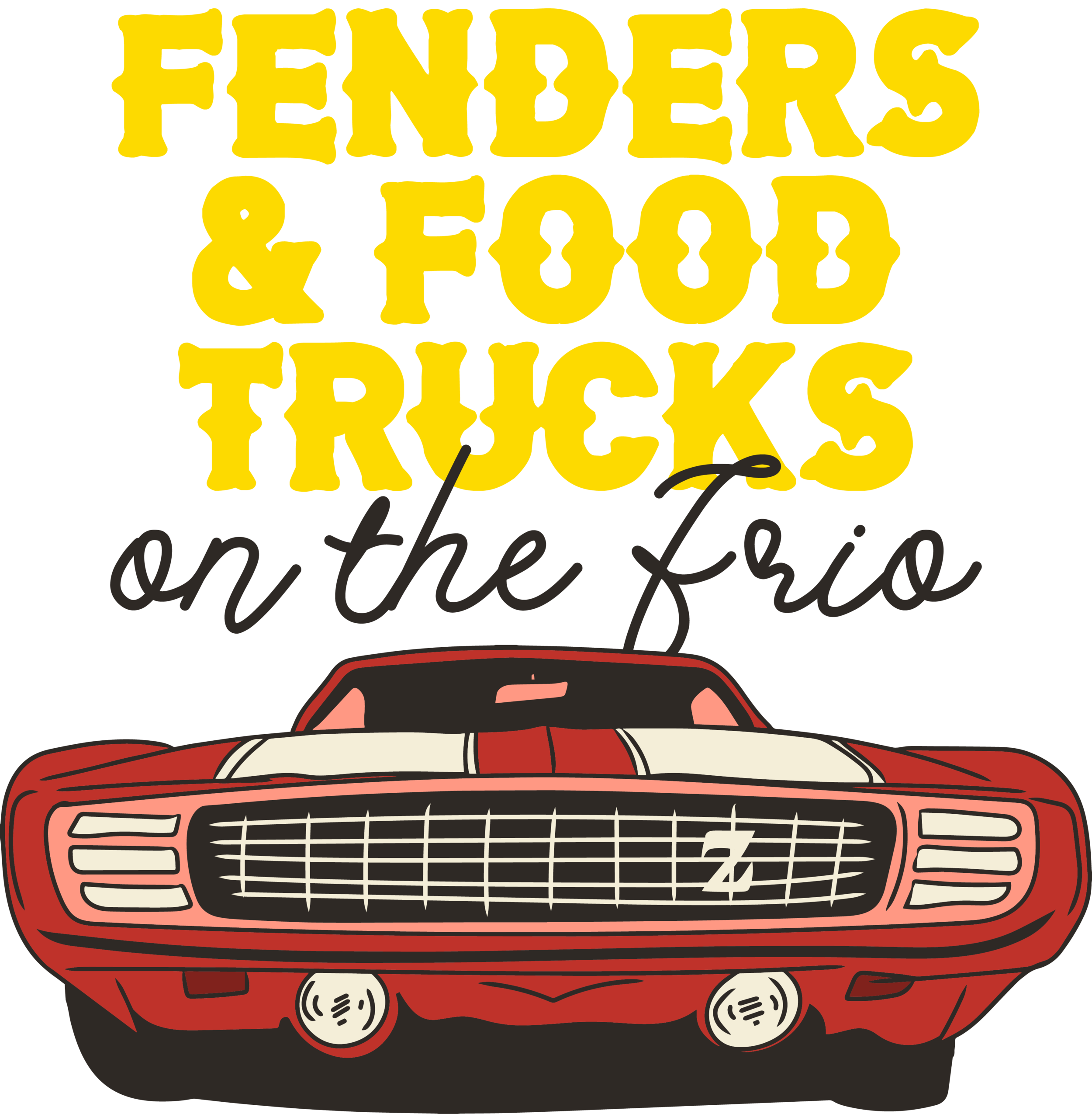 2nd Annual -Fenders and Food Trucks on the Frio - Andy's on River Road, Concan, Tx.Saturday, April 20th, 2019